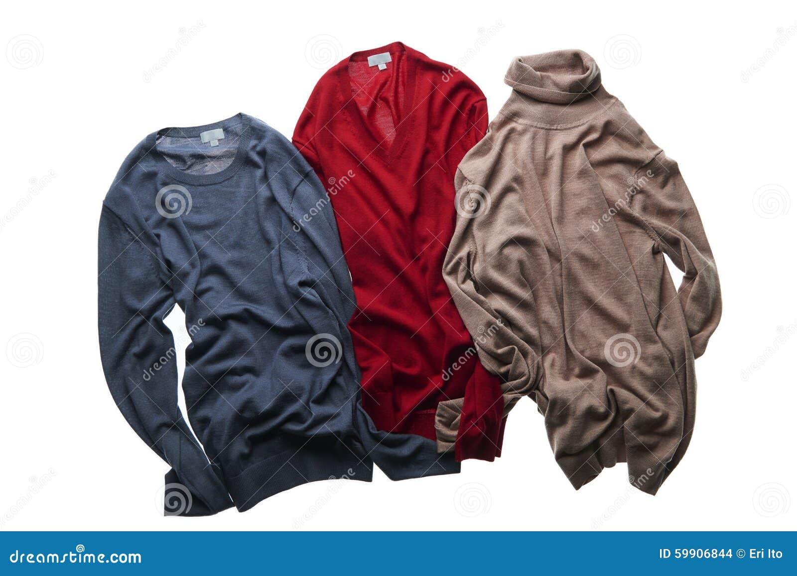 Tres suéteres