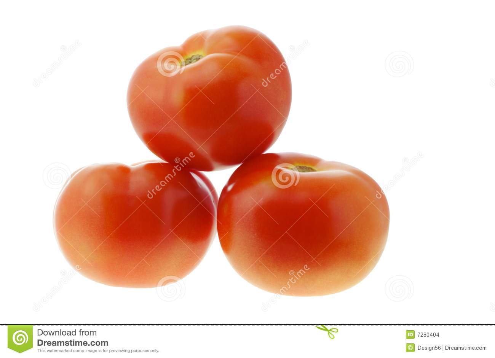 Tres tomates frescos