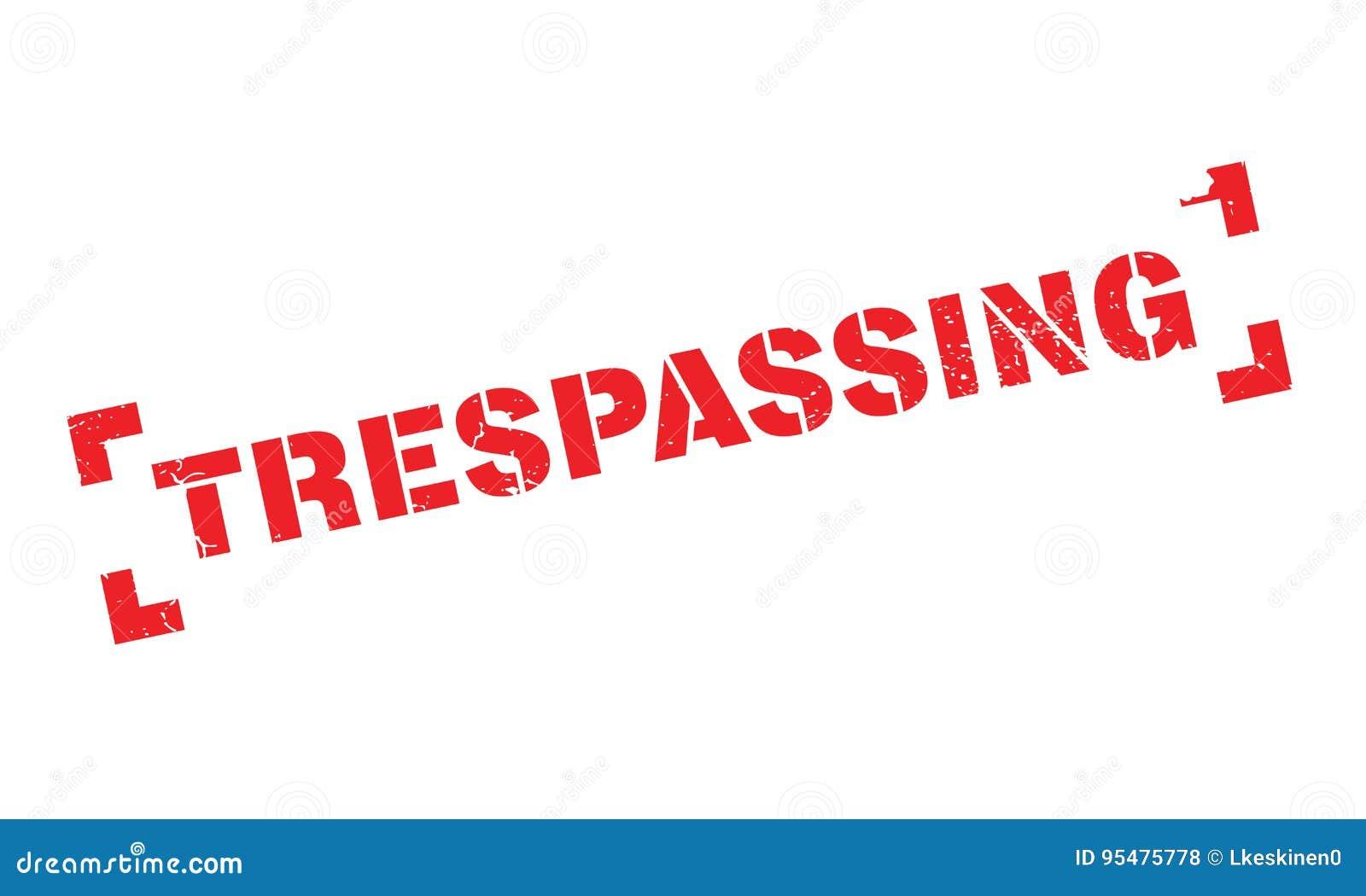 Trespassing pieczątka