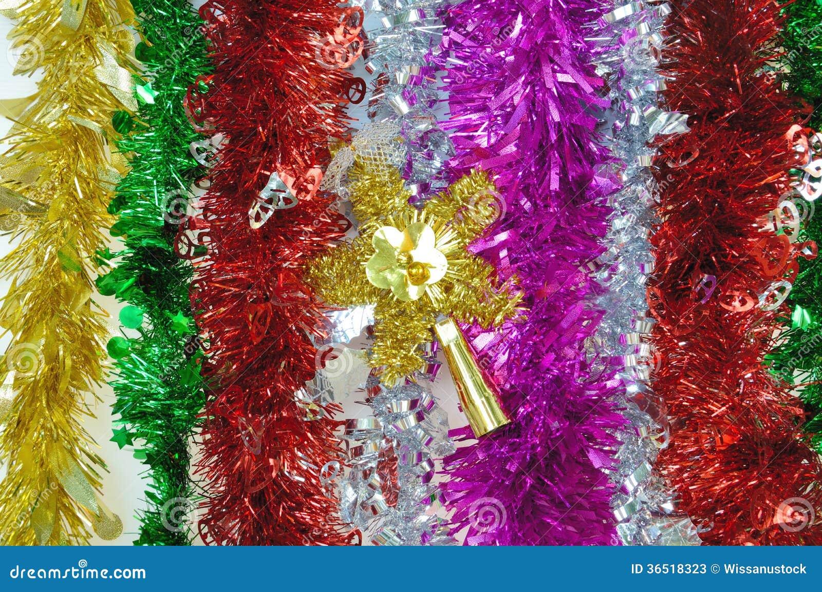 Tresse colorée pour la décoration de Noël et de nouvelle année