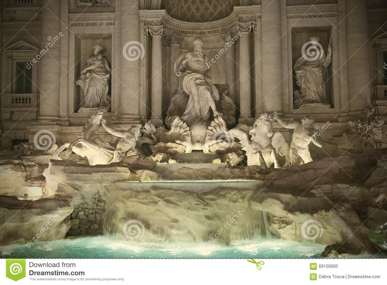 trevi fountain rome italy stock photo image 69105600. Black Bedroom Furniture Sets. Home Design Ideas
