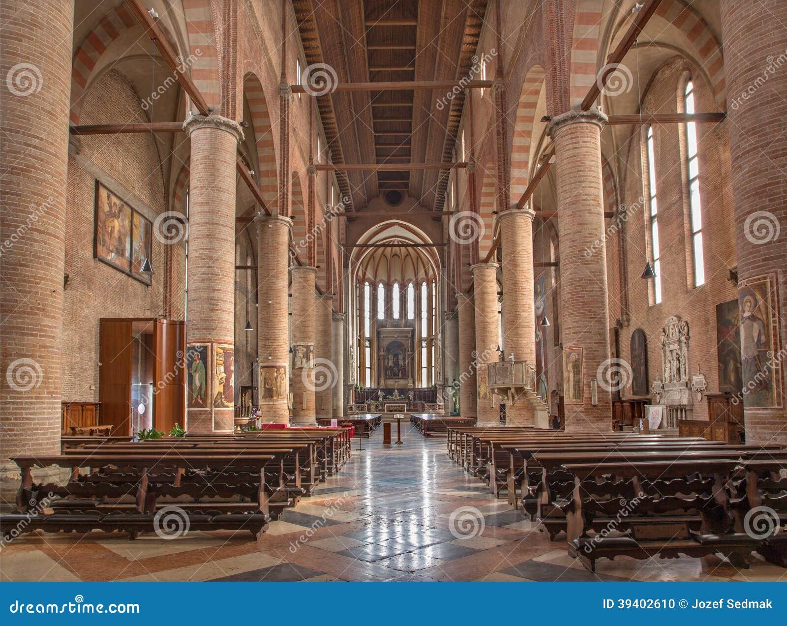 Treviso Interno Della Chiesa Di San Nicola Fotografia