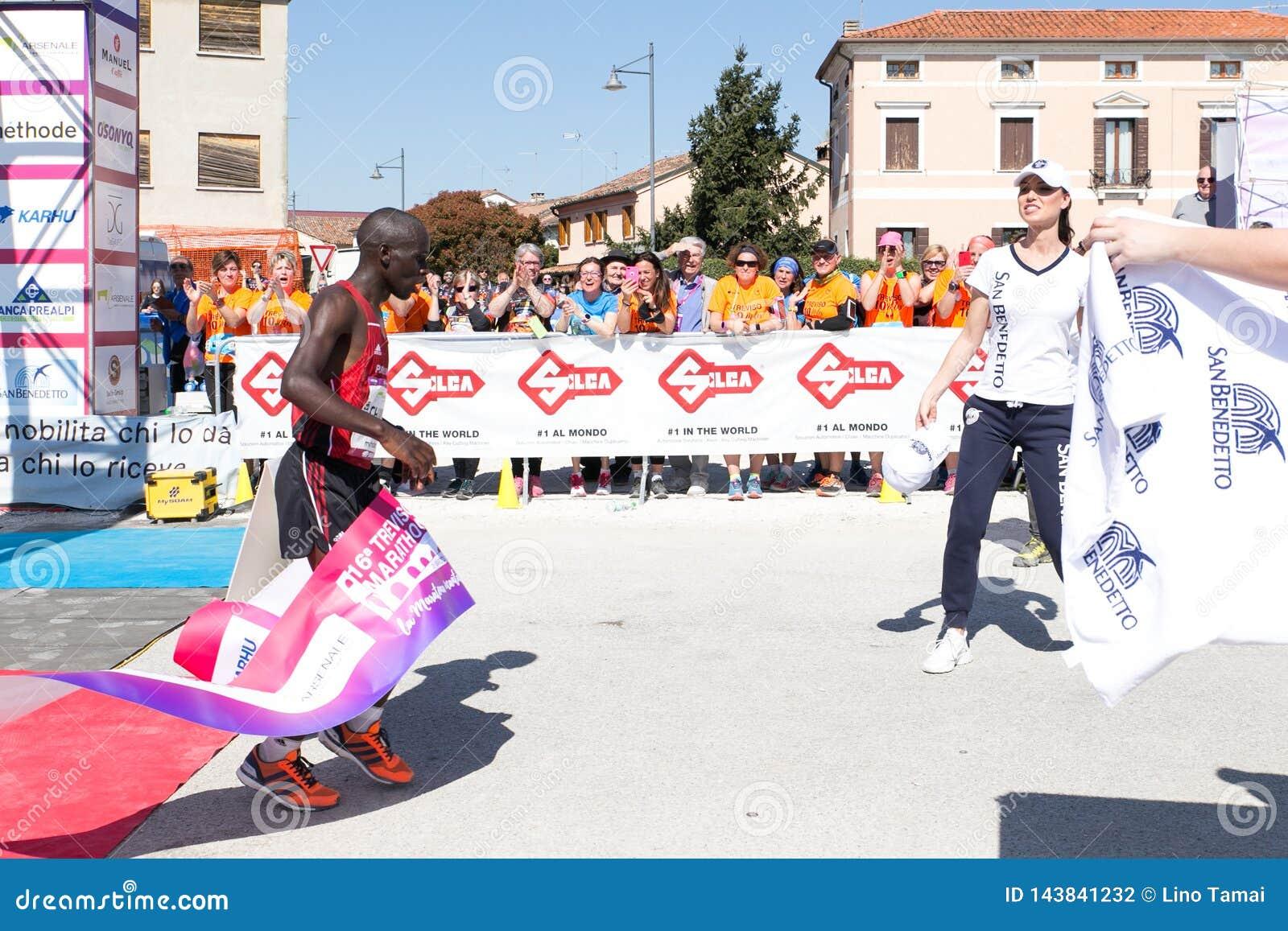 Treviso, Italien am 31. März 2019 Marathon