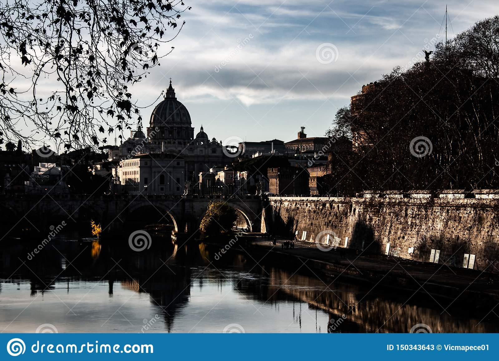 Trevlig bild av Rome på solnedgången