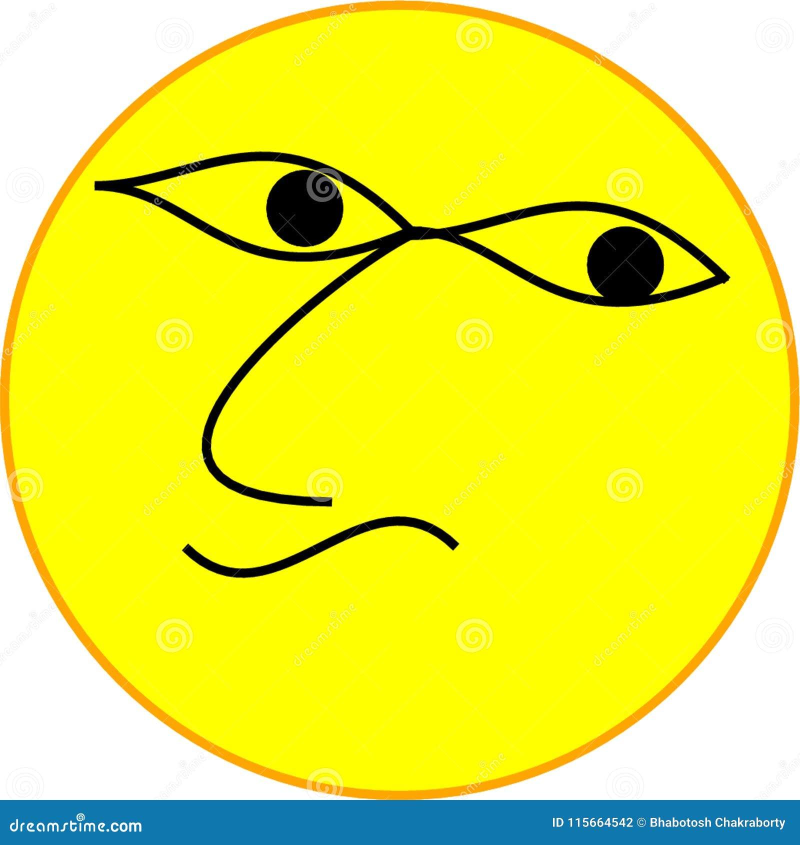 Trevligt vända mot emojien