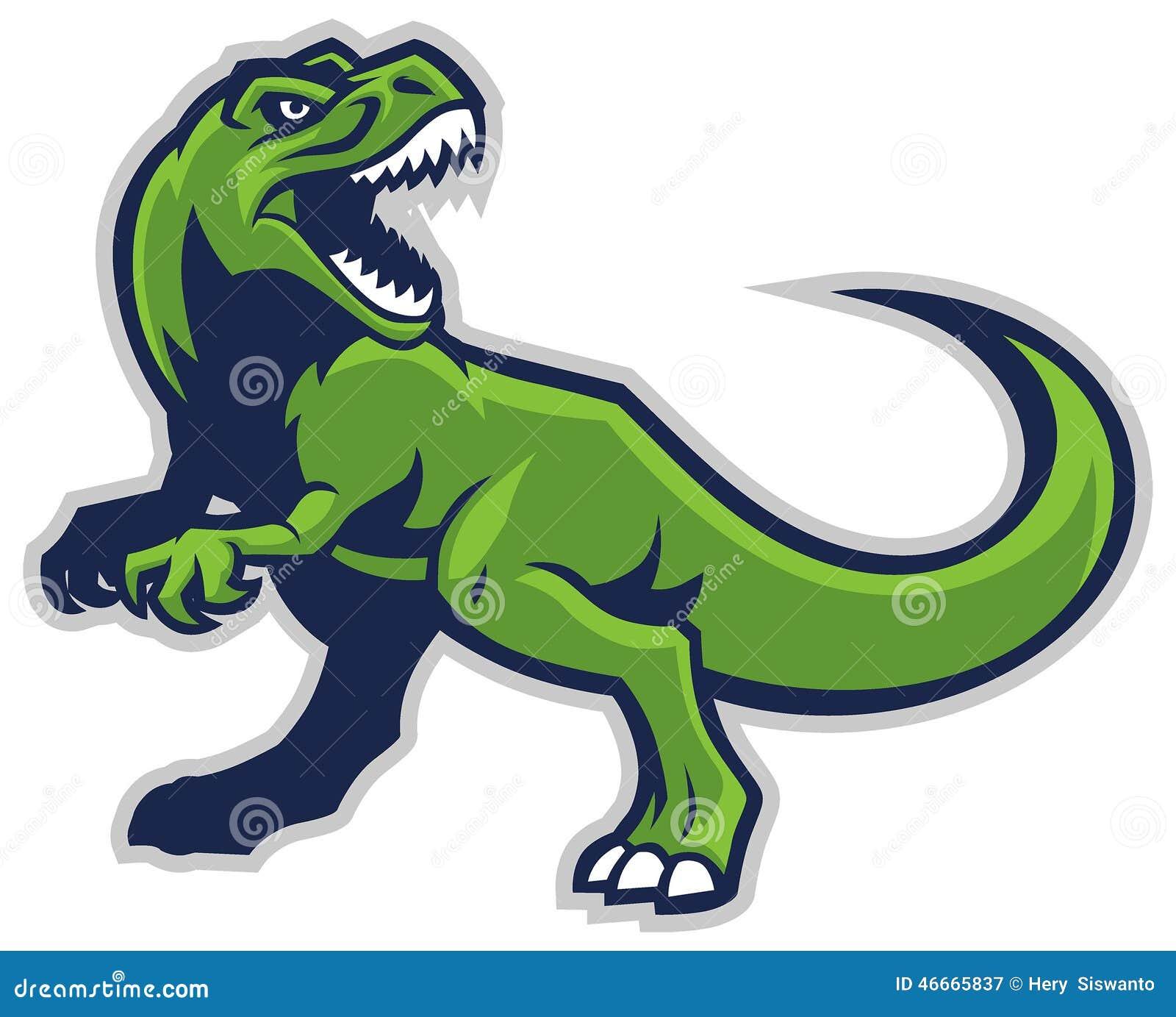 Trex Mascot Stock Vector - Image: 46665837