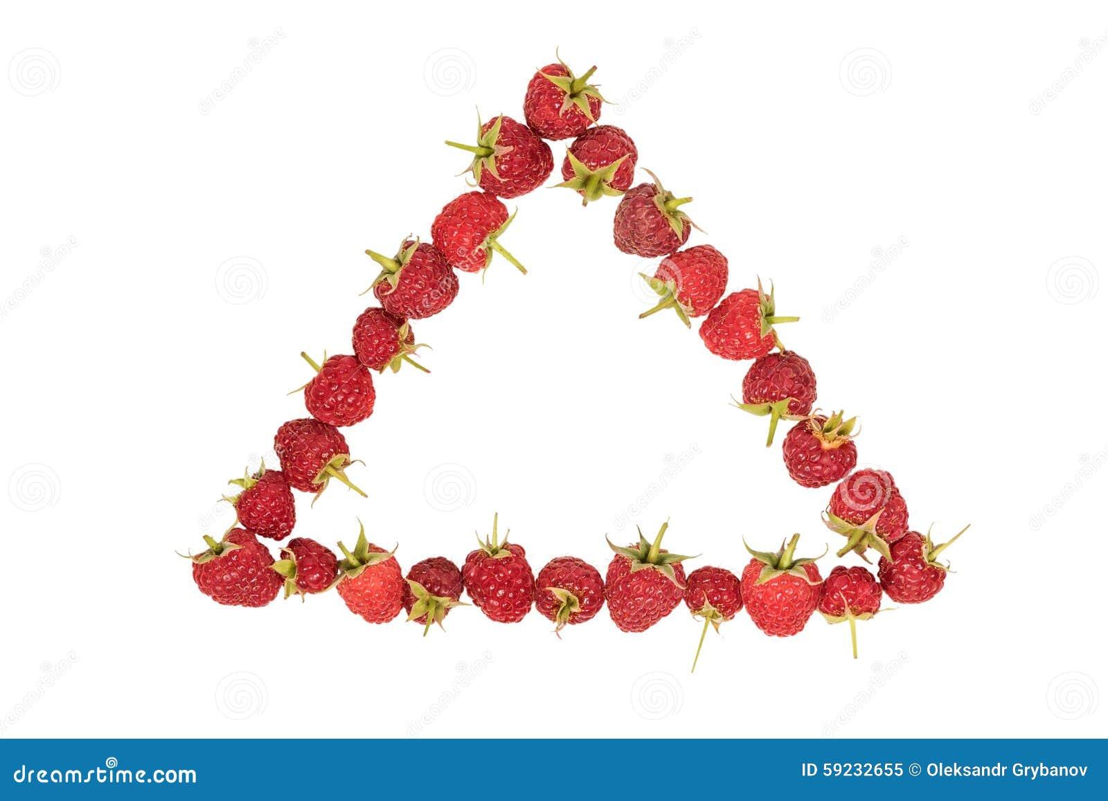 Triángulo alineado frambuesa