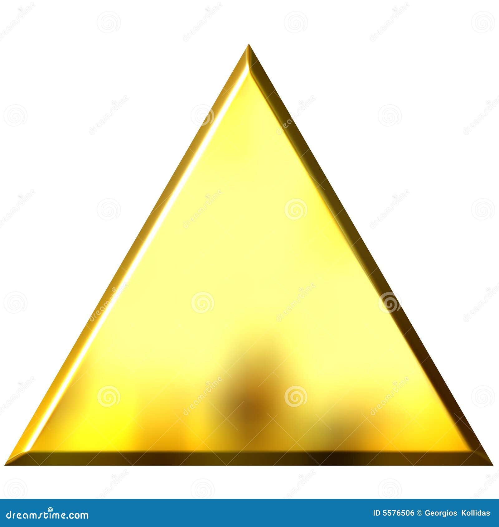 Tri ngulo de oro 3d imagen de archivo libre de regal as for Piscina triangulo de oro