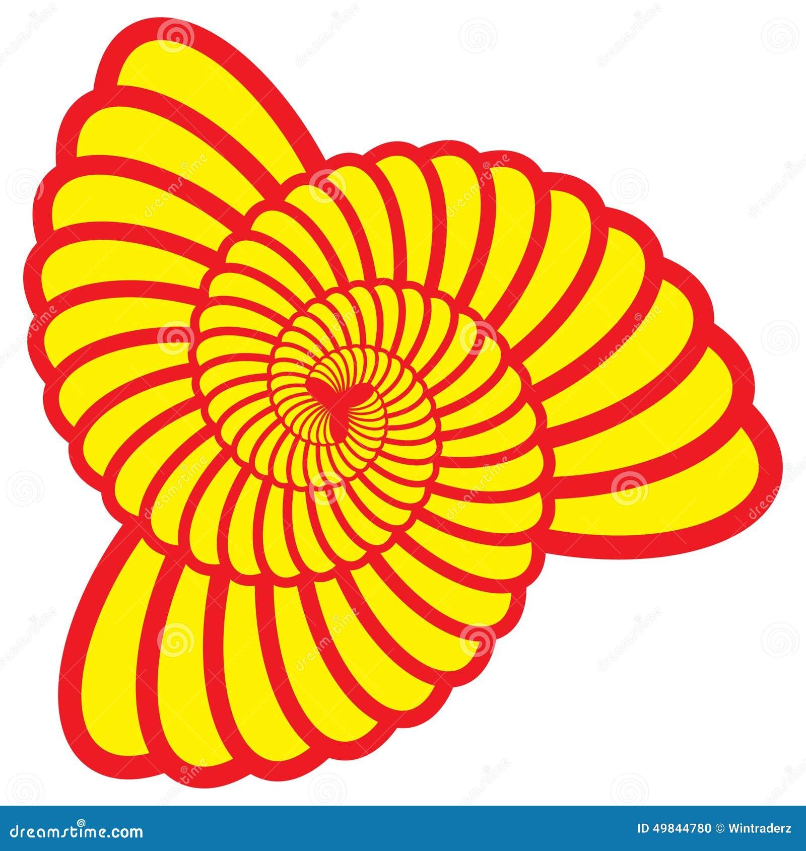 Triángulo Shell Swirl Vector del giro