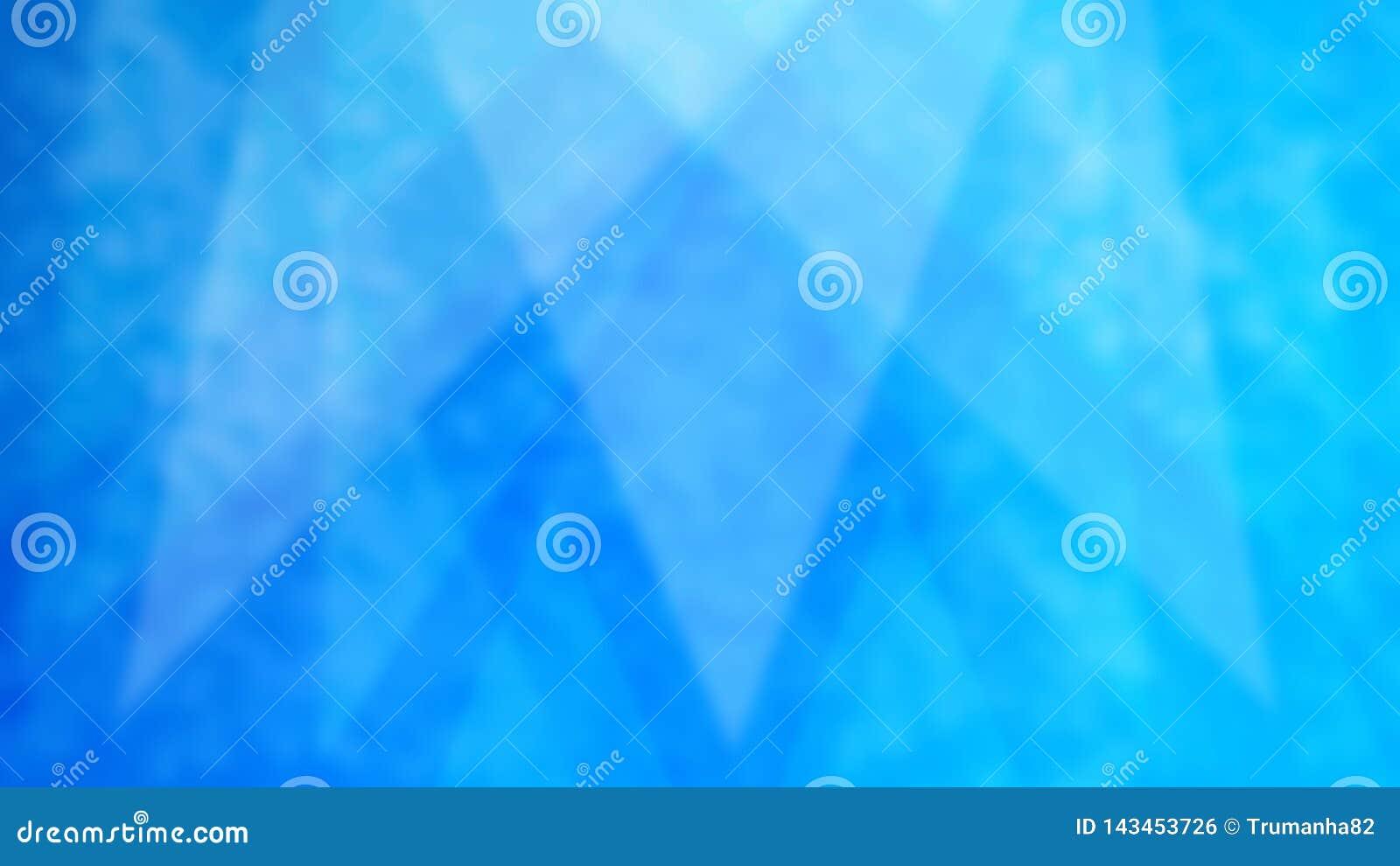 Triángulos borrosos abstractos en fondo azul del Grunge