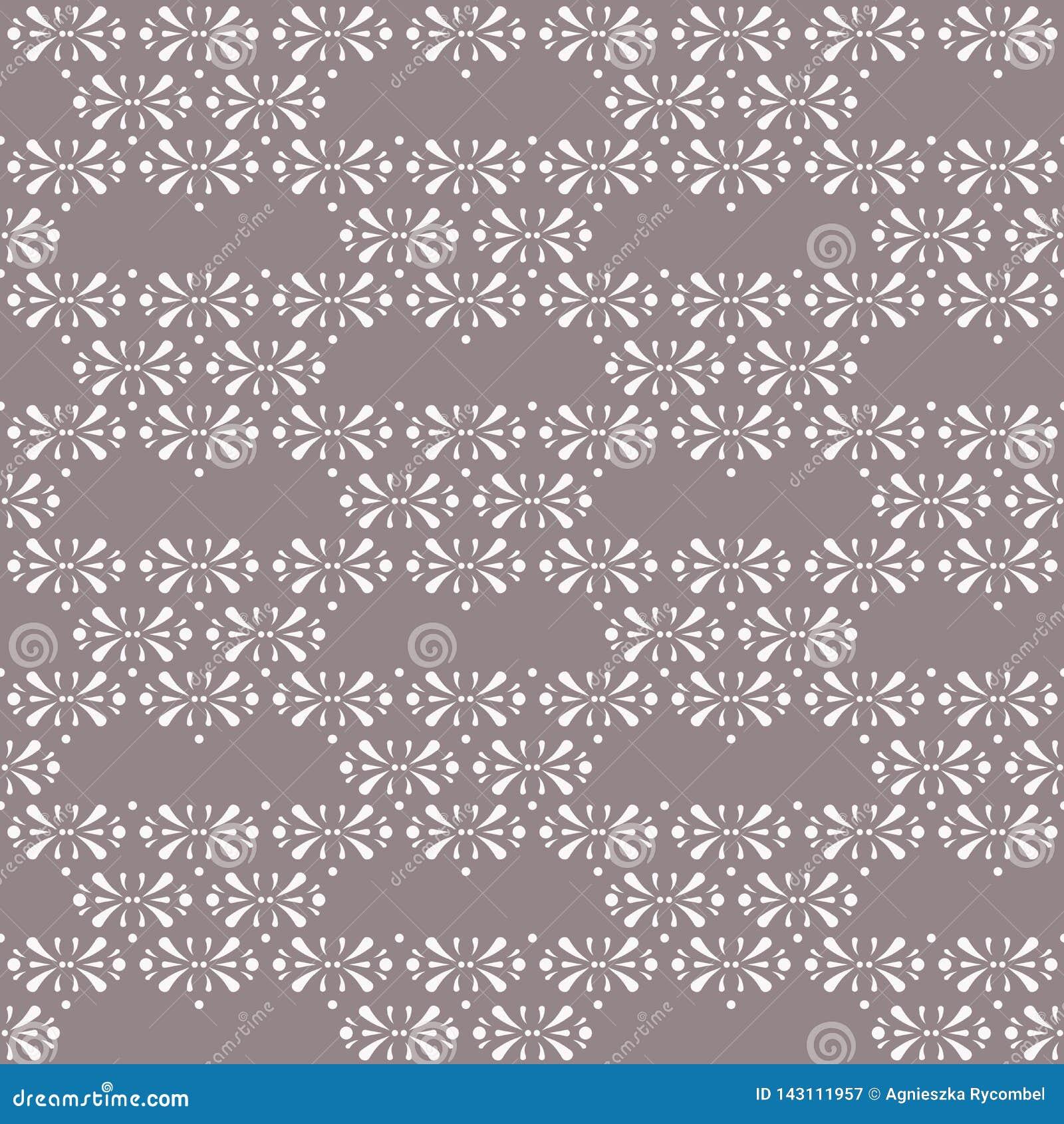Triángulos florales del vector en fondo inconsútil del modelo de Brown del cacao