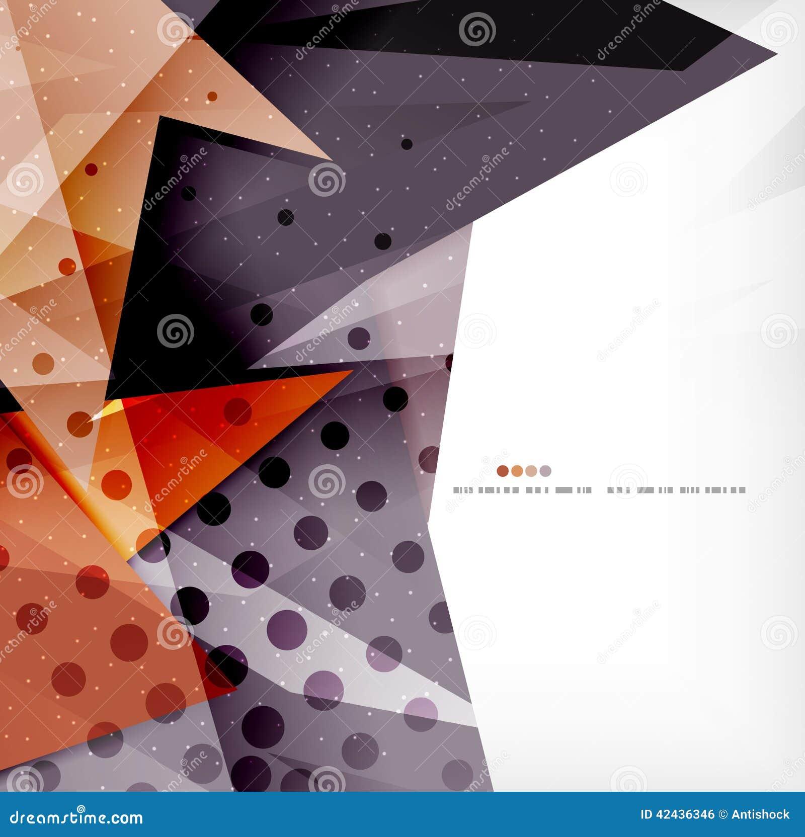Triángulos traslapados brillantes modernos 3d
