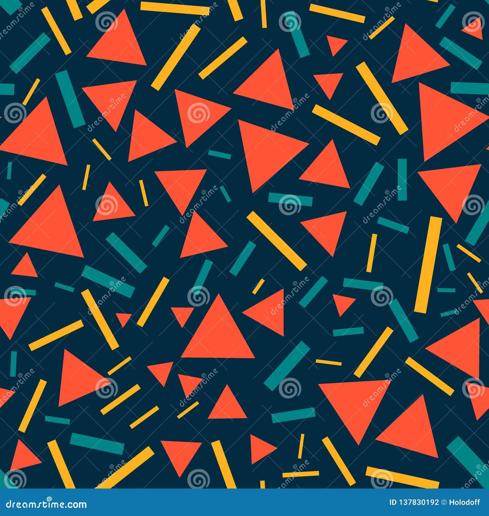 Triángulos y líneas - modelo inconsútil