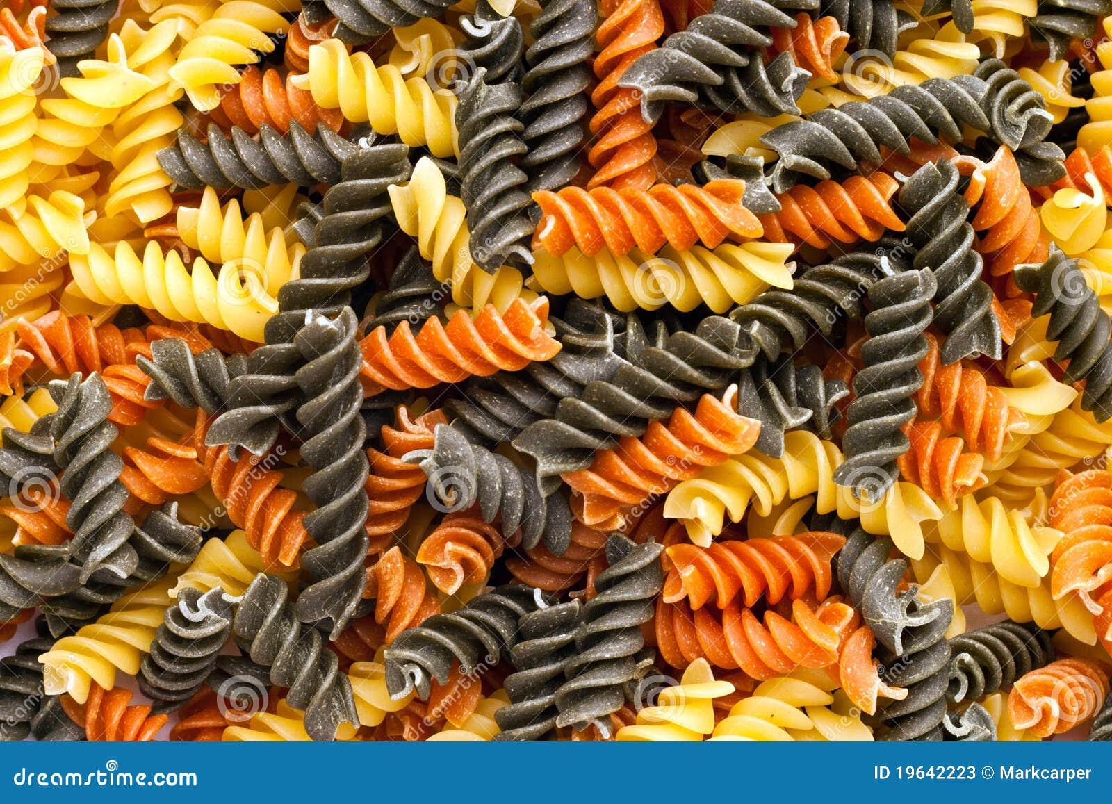 Tri Colored Pasta Pile