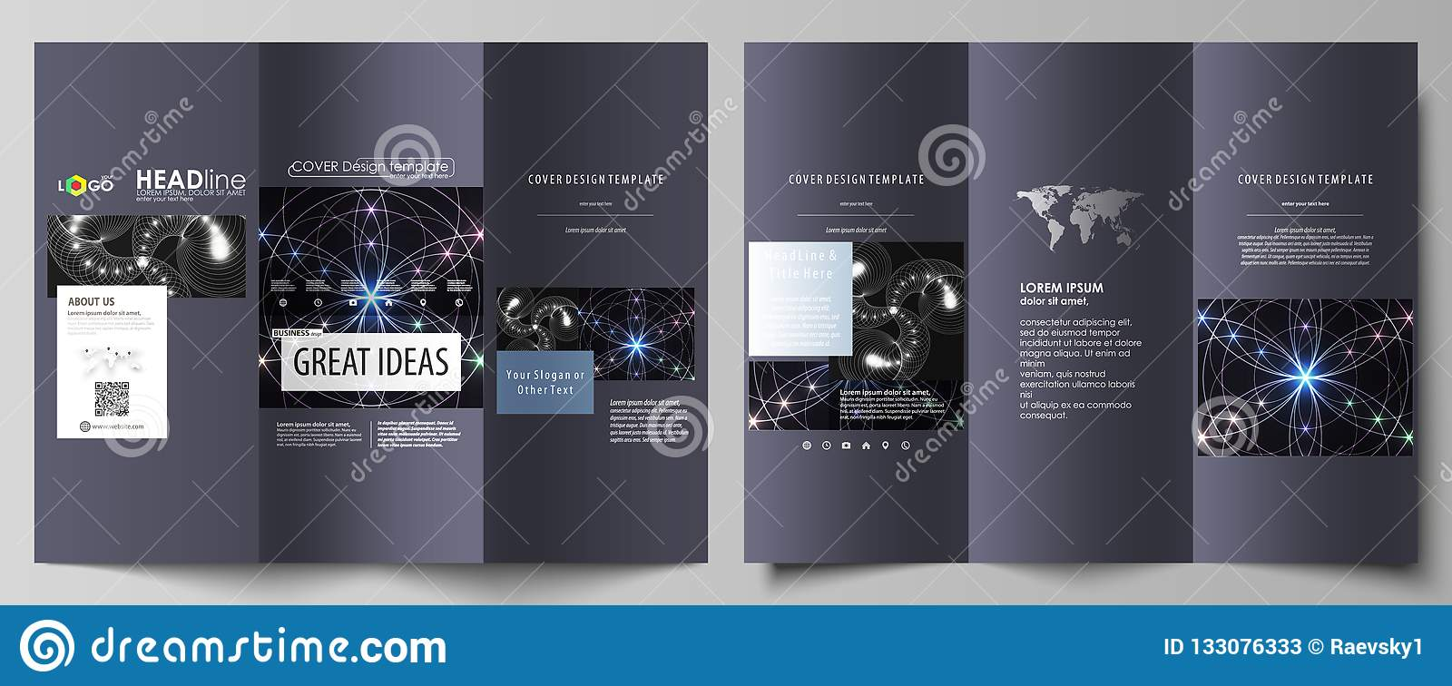 Tri Fold Brochure Business Templates On Both Sides Easy