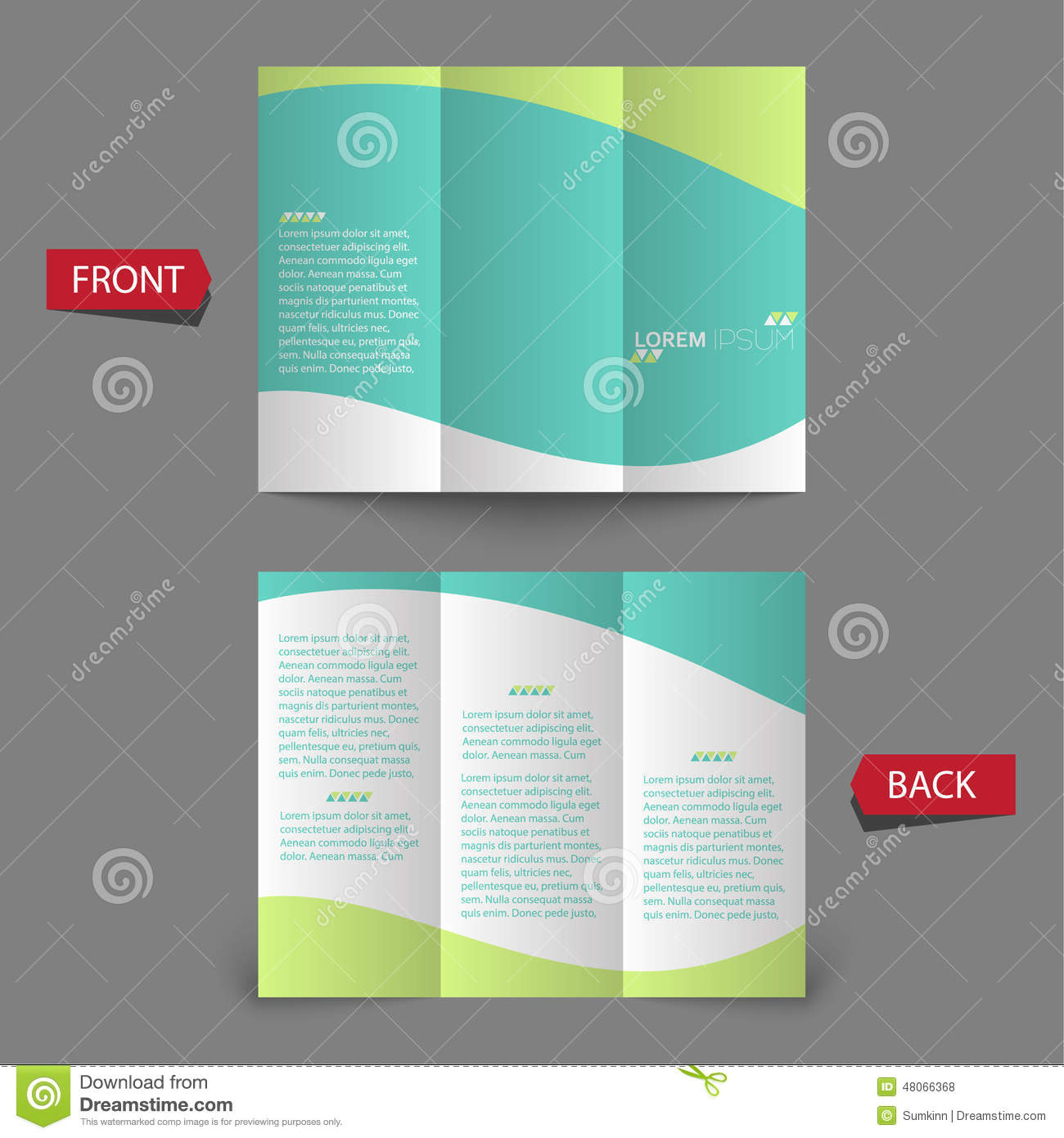 tri fold brochure design stock vector illustration of clean 48066368
