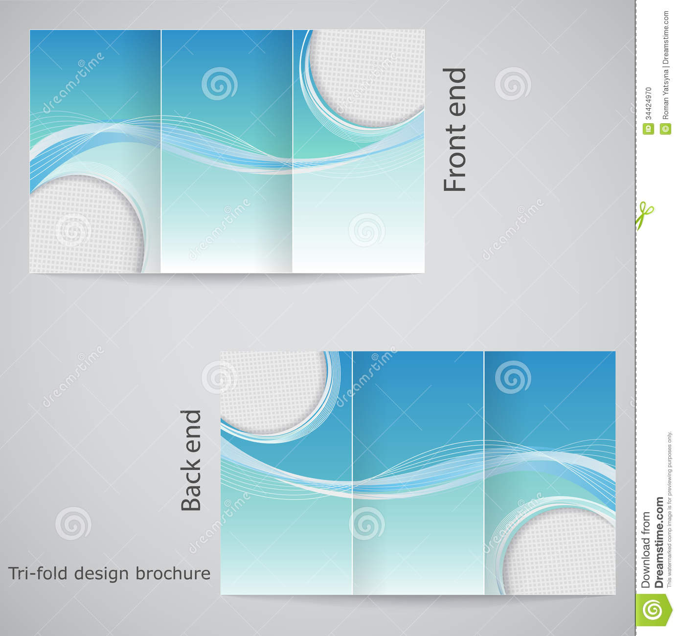 tri fold brochure design stock photo