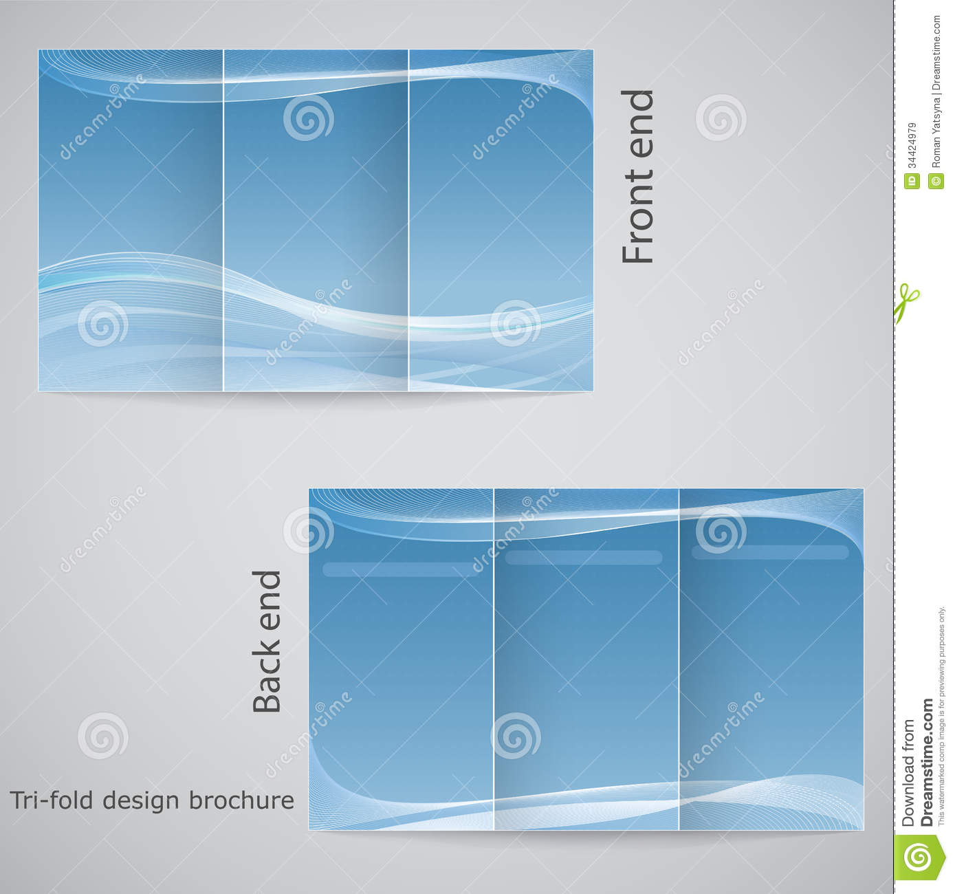Tri Fold Brochure Design. Handbill, Background.  Microsoft Tri Fold Brochure Template Free