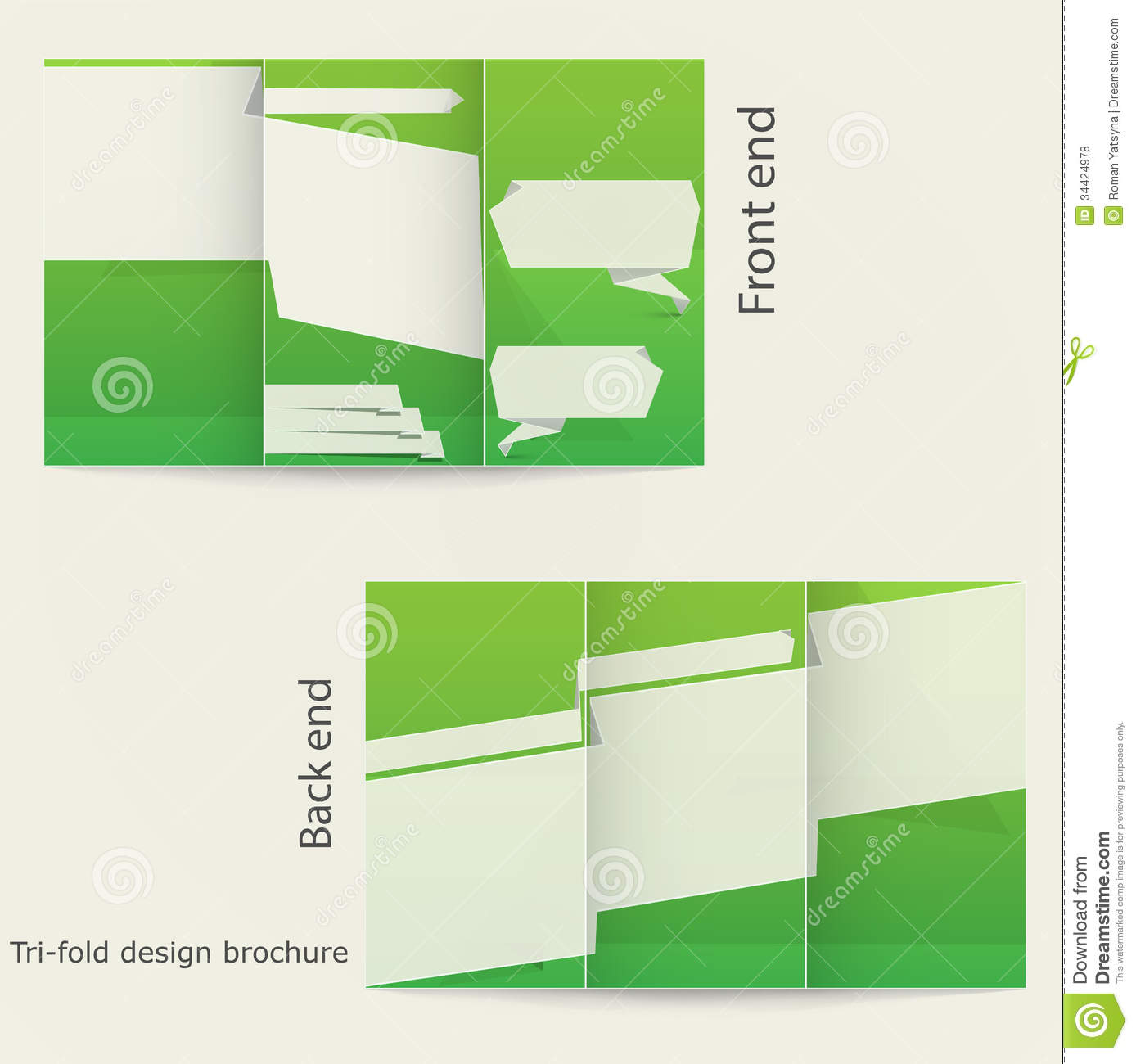 Tri fold brochure design stock vector image of message for Two fold brochure templates free download