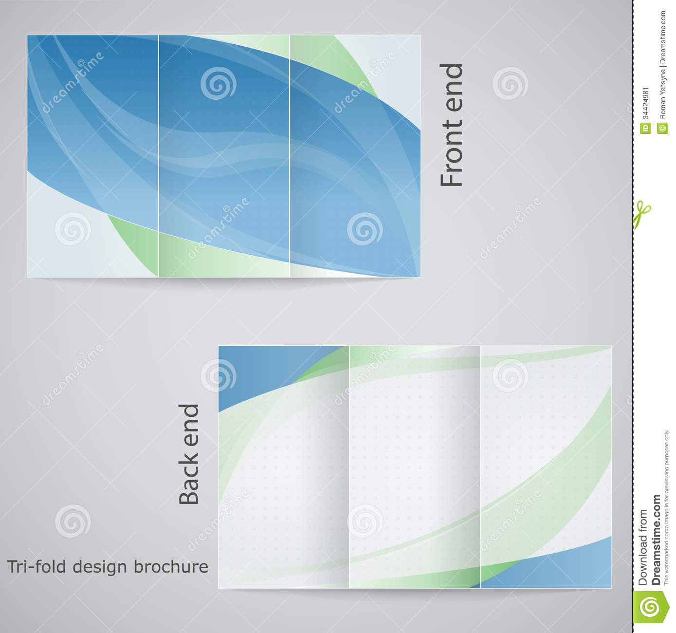 Gynecology Clinic Tri Fold Brochure Template  Tab