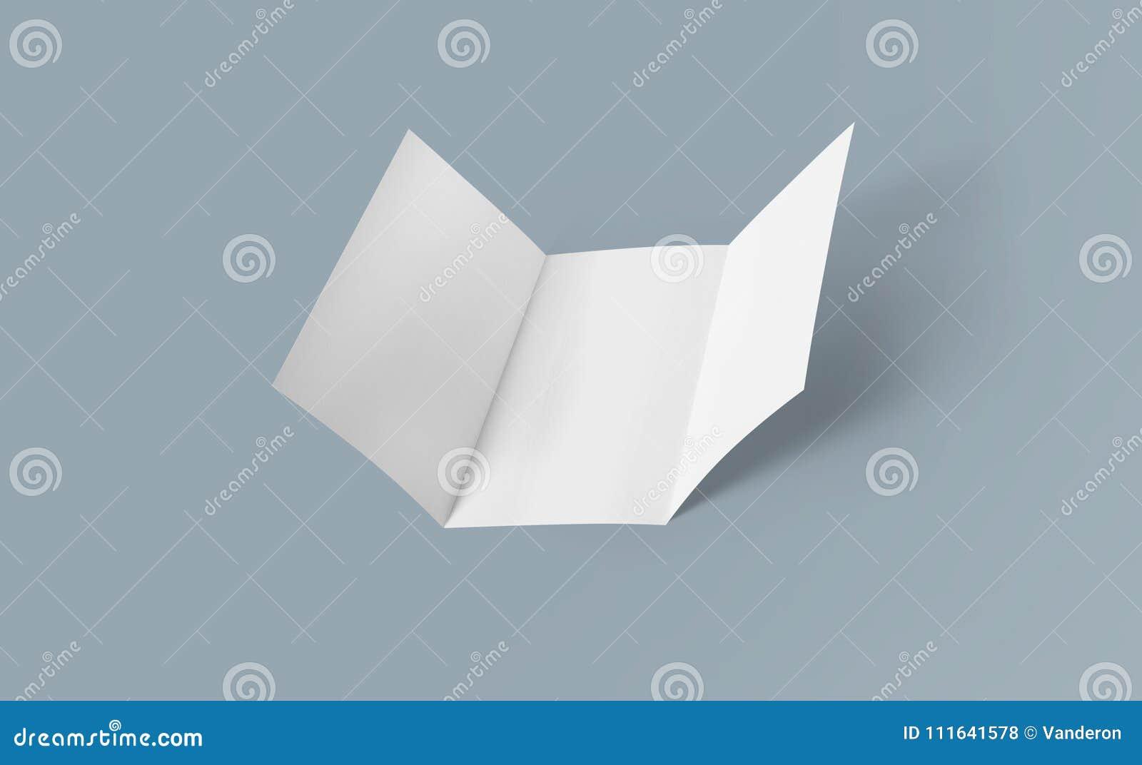 tri fold brochure mock up blank brochure white template paper on