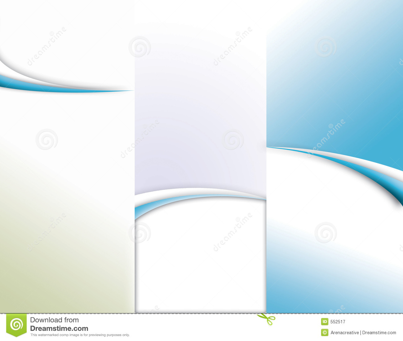Custom tri-fold brochure template 8.5 x 11 - includes quarter inch ...