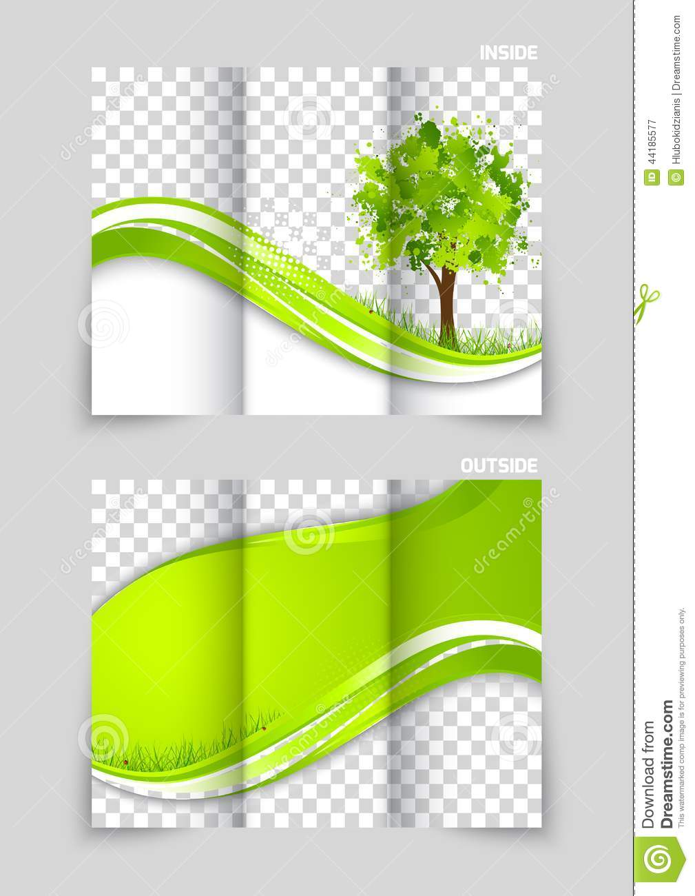 Trifold Brochure Template Design Stock Vector Illustration Of - Template for brochure