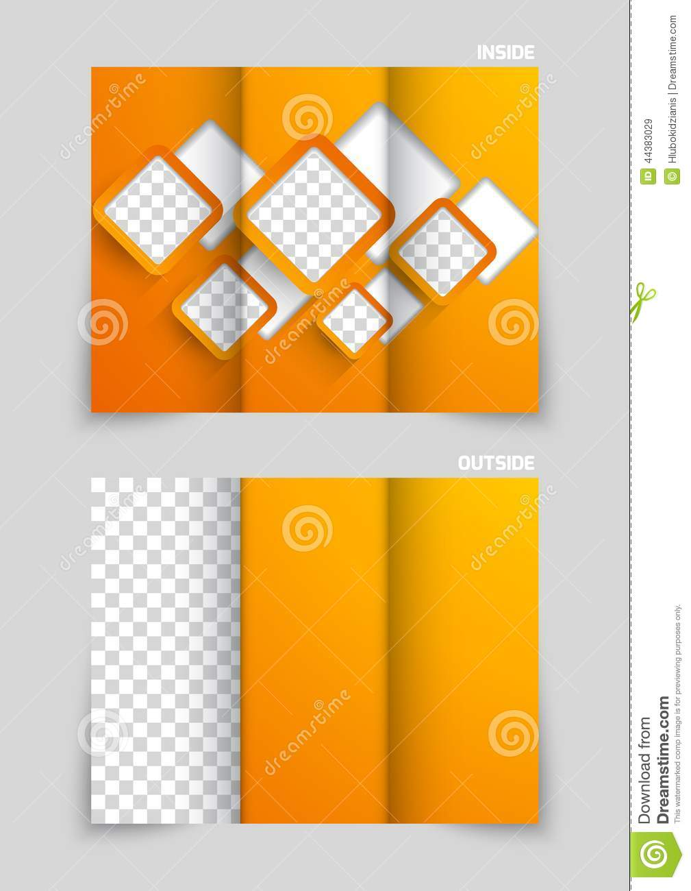 Trifold Brochure Template Design Stock Vector Illustration Of - Fold out brochure template
