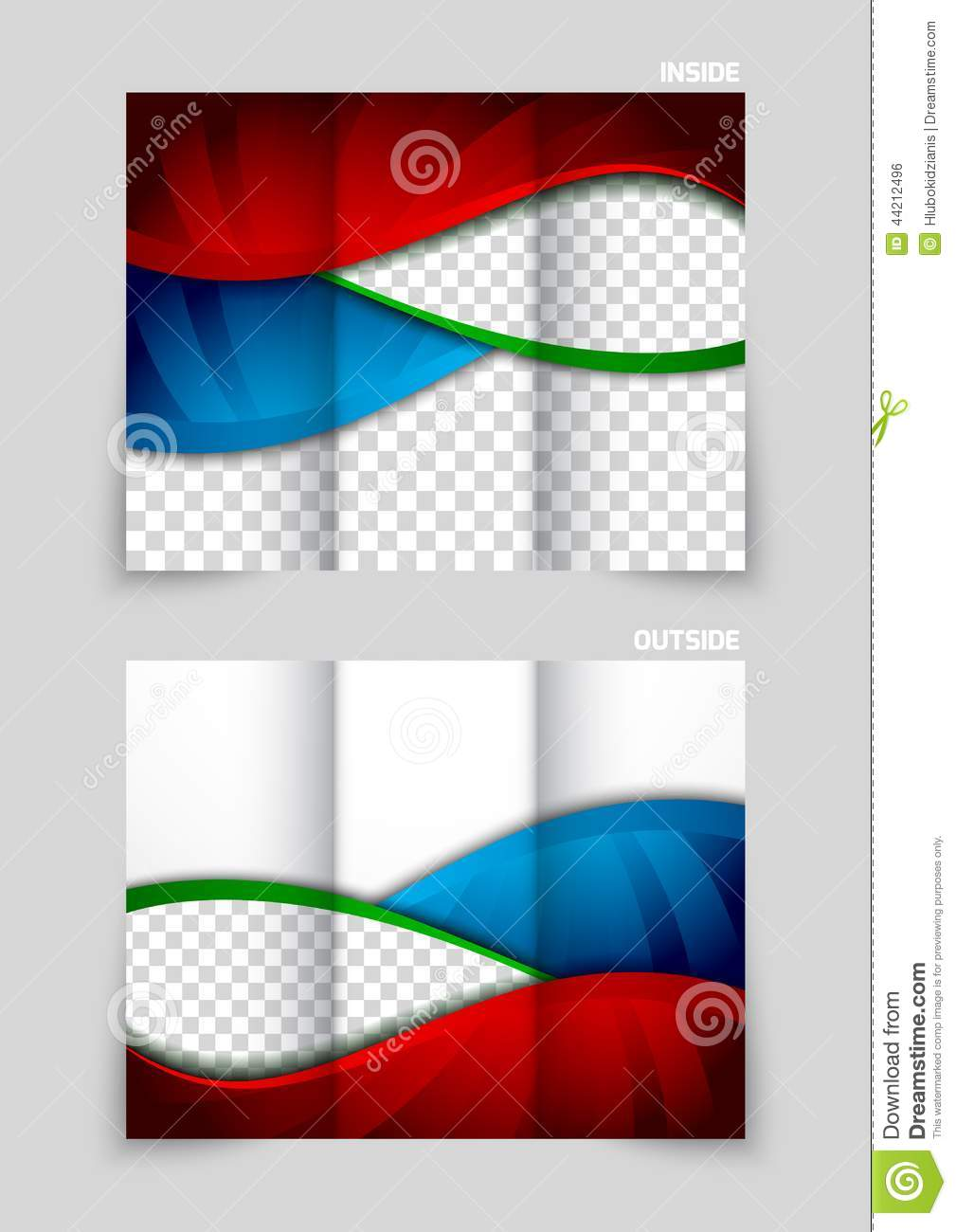 tri-fold brochure template design stock vector