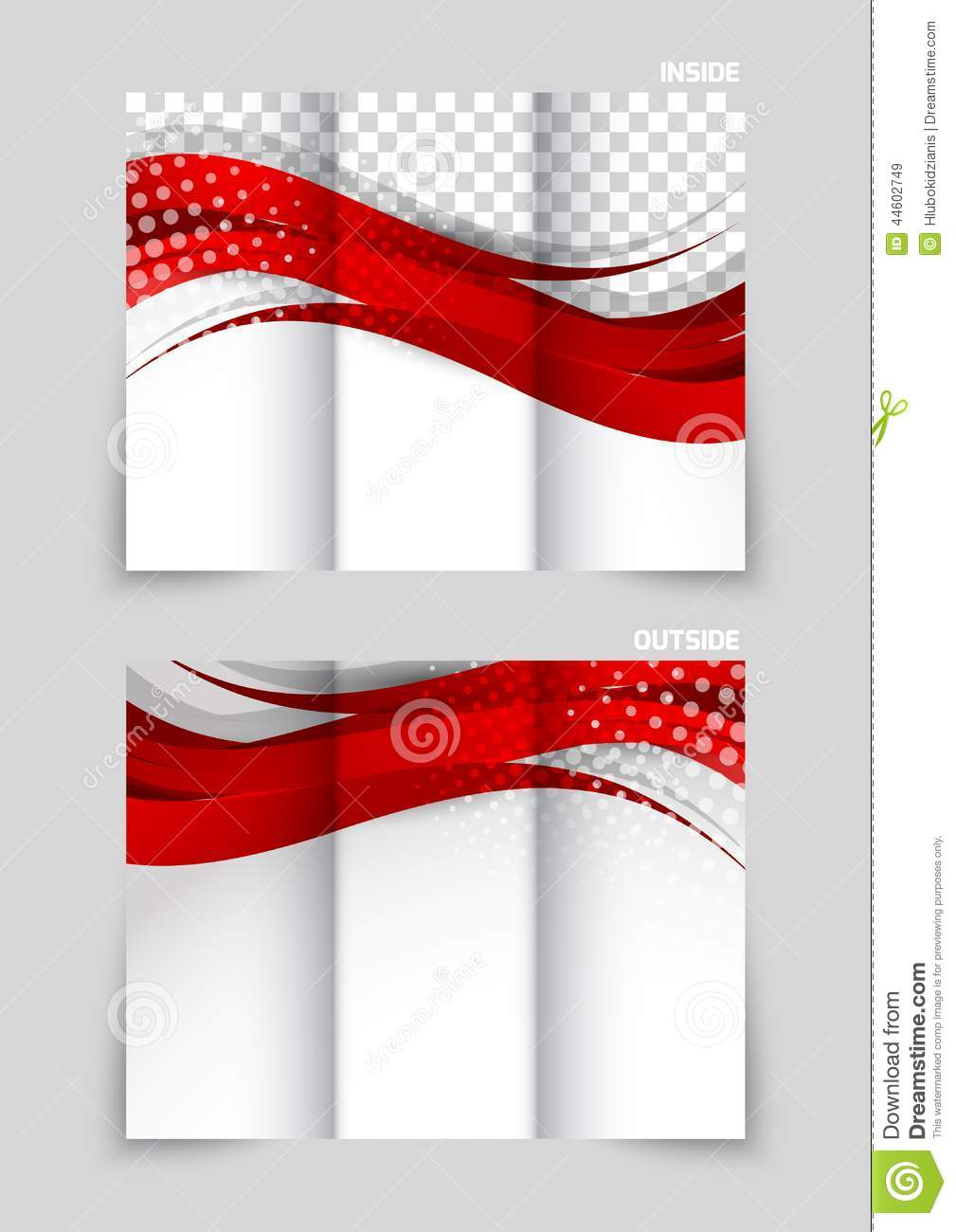Trifold Brochure Template Design Vector Image 44602749 – Free Printable Tri Fold Brochure Template