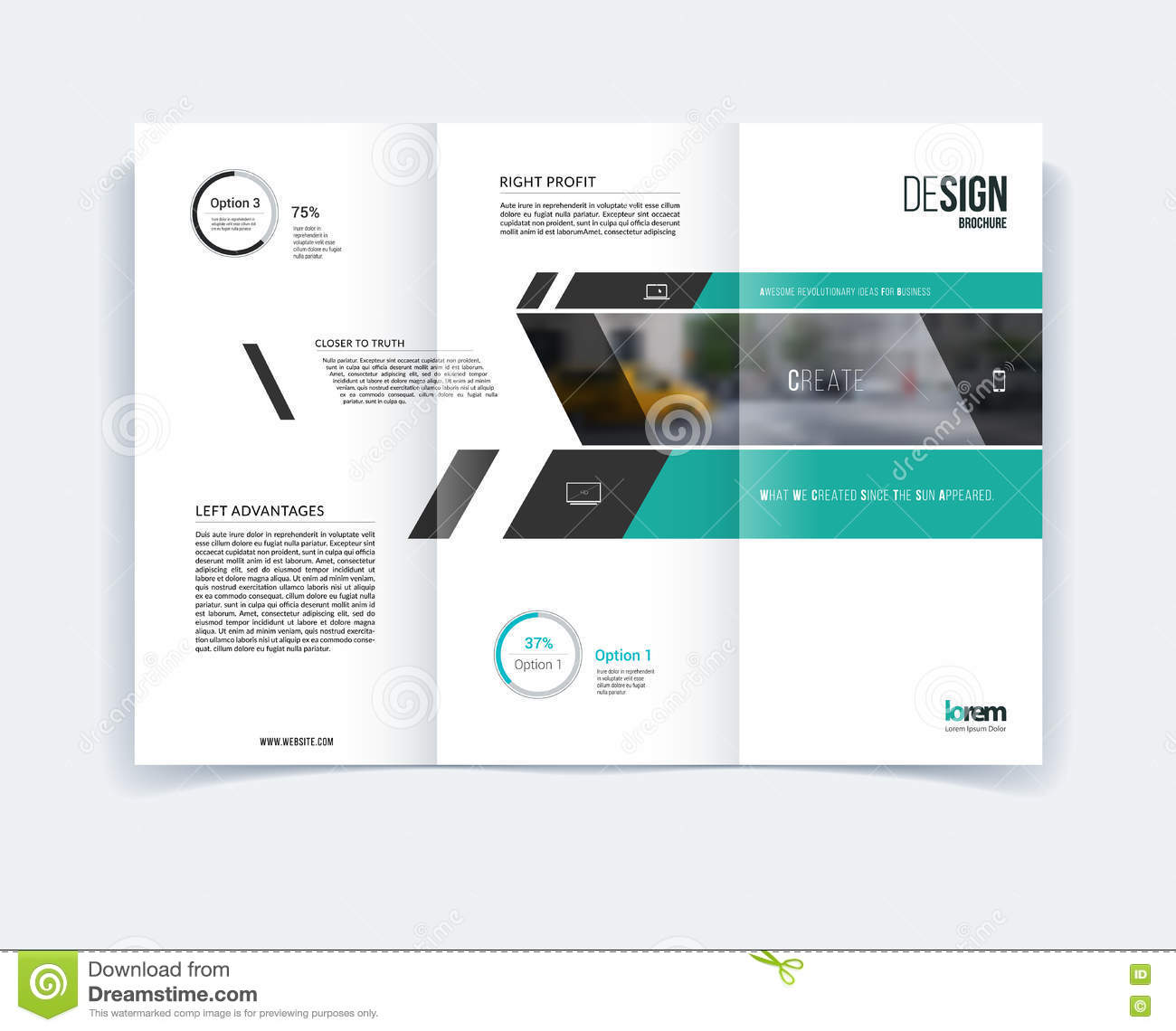 Tri Fold Brochure Template Layout Cover Design Flyer In A4