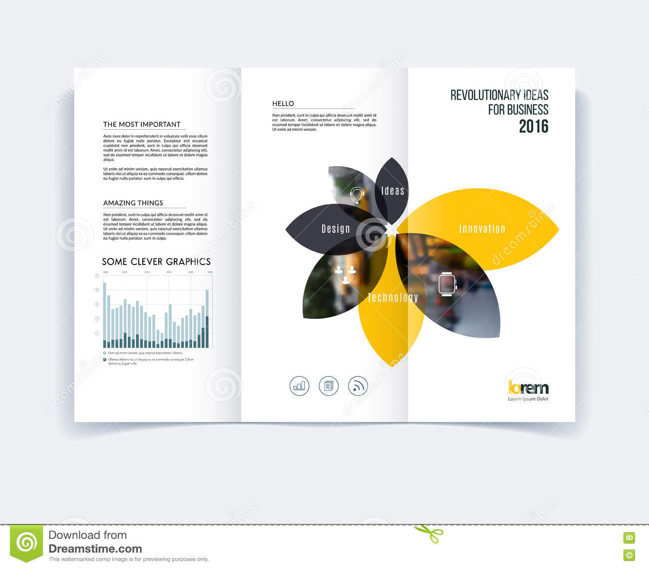 Tri-fold Brochure Template Layout, Cover Design, Flyer In A4 Wit ...