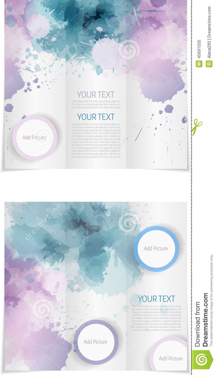 Tri Fold Brochure Template Stock Vector Illustration Of Flip - Publisher tri fold brochure templates free