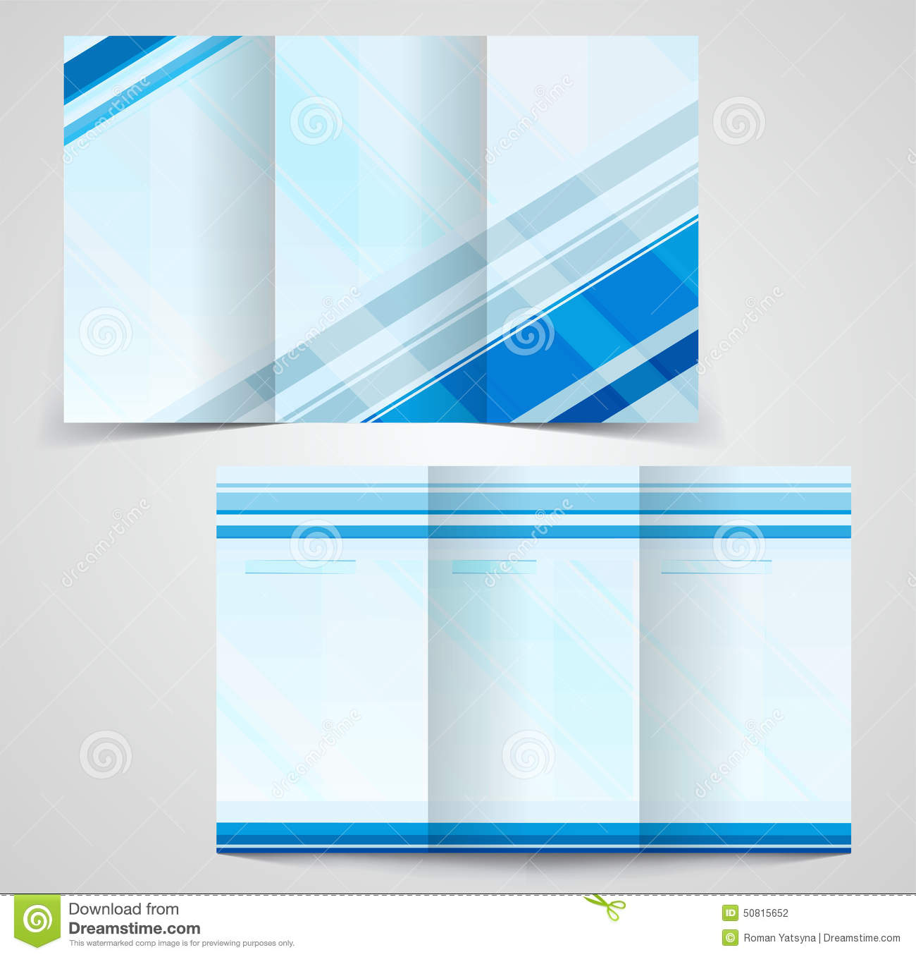 tri fold brochure template design - tri fold business brochure template two sided template