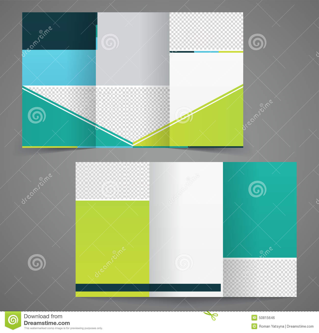 Tri Fold Business Brochure Template Two Sided Template