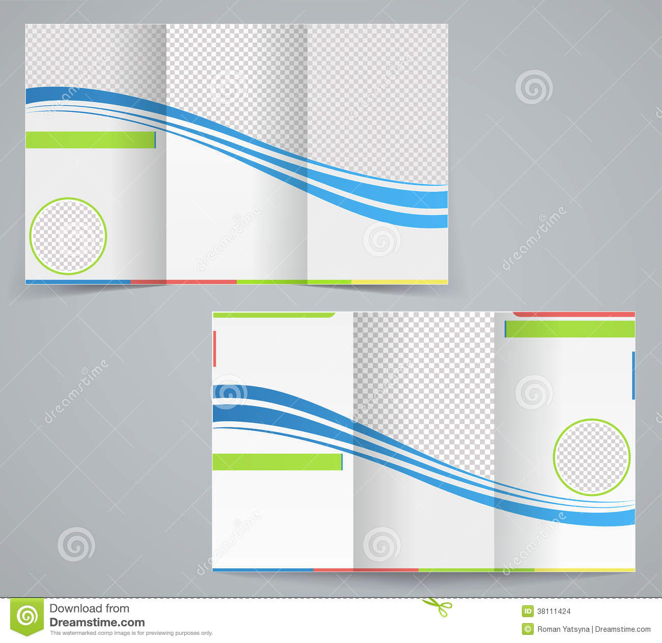 business tri fold brochure templates - tri fold business brochure template stock vector