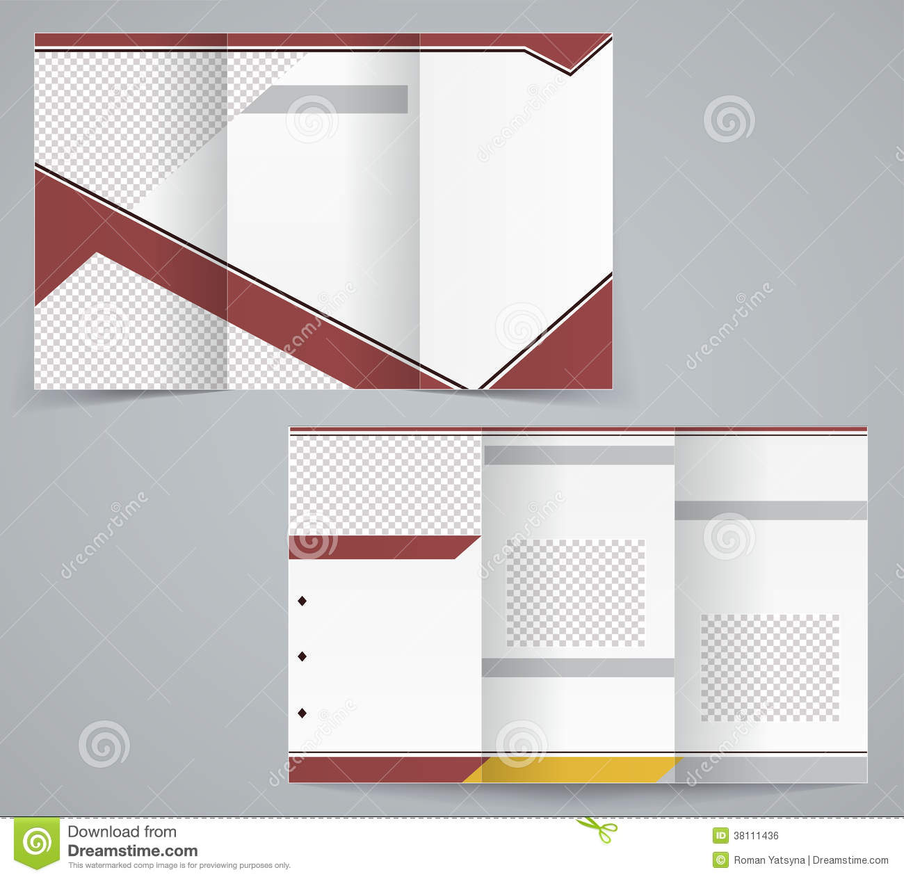 Tri fold business brochure template stock vector image for Folded brochure template