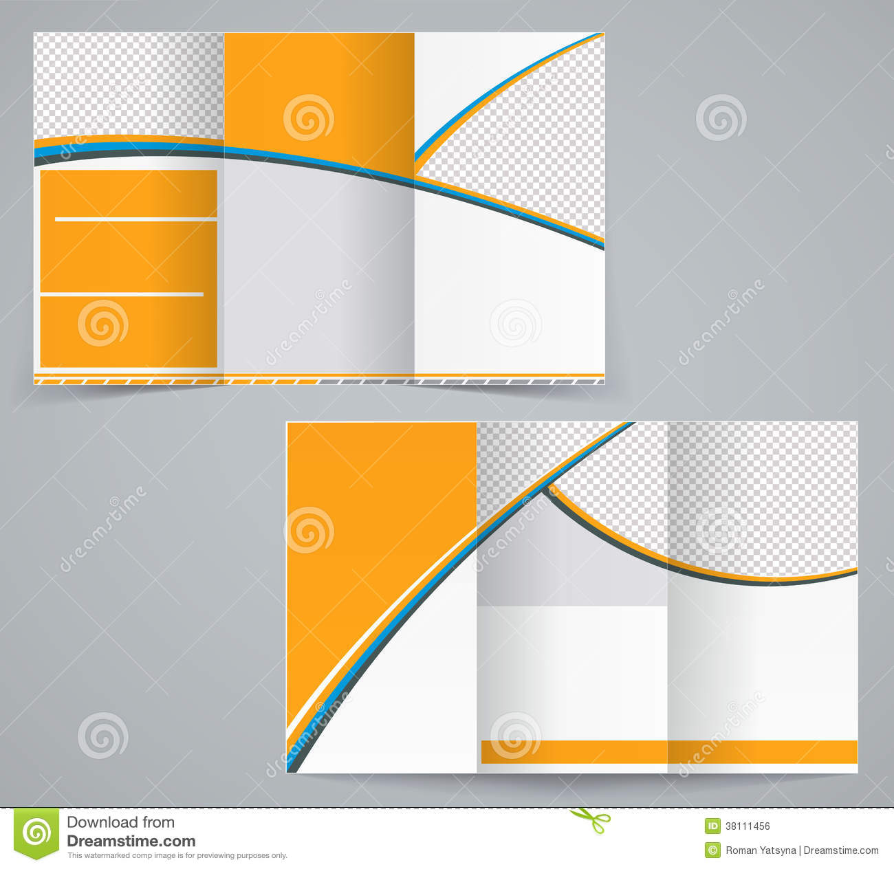 trifold brochure template - tri fold business brochure template royalty free stock