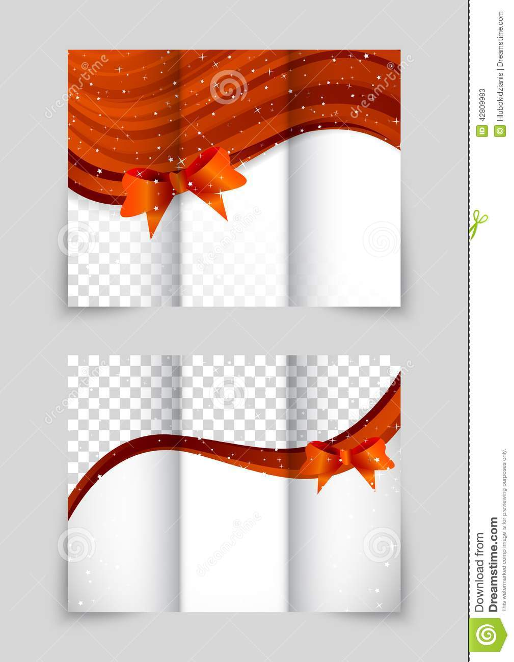 tri-fold christmas brochure stock vector