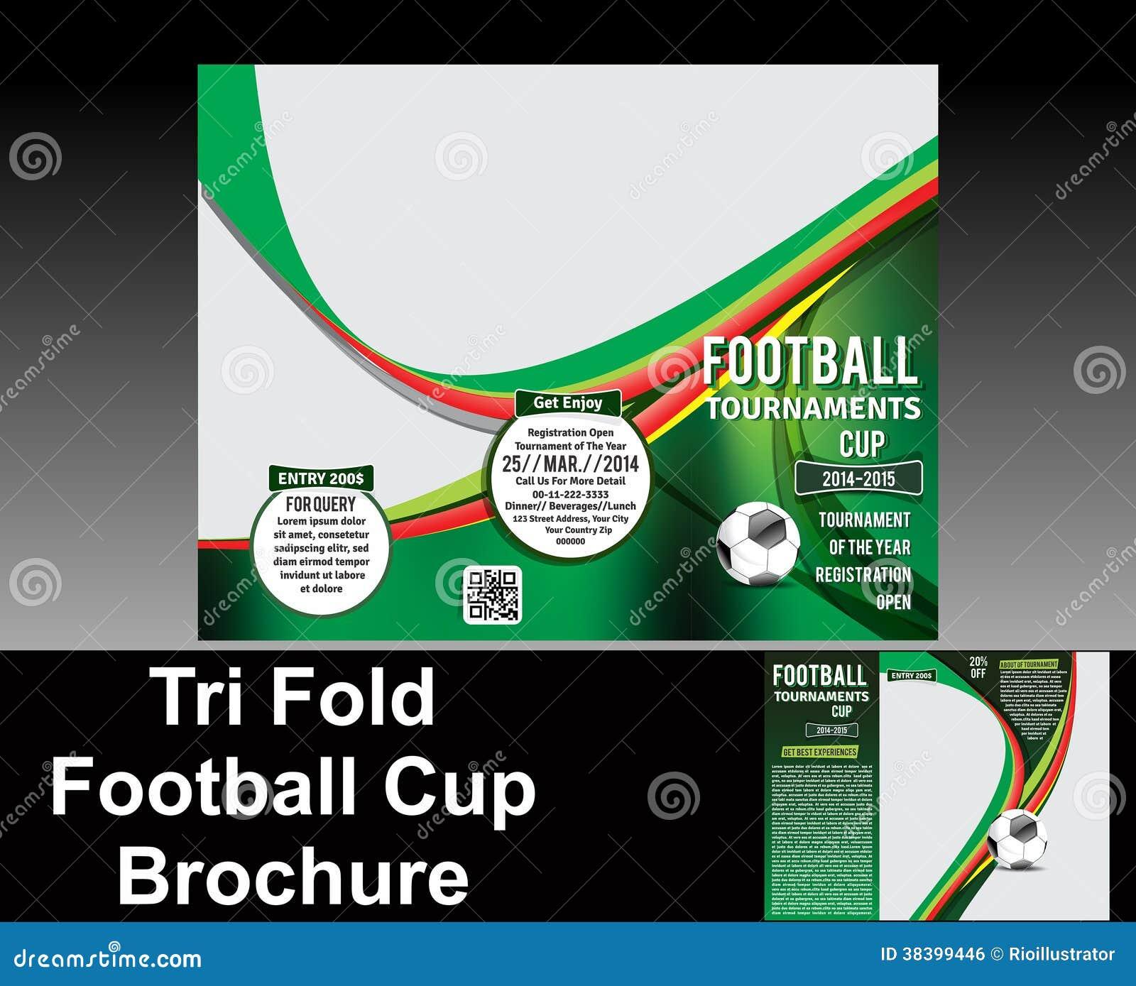 tri fold football brochure design royalty free stock image