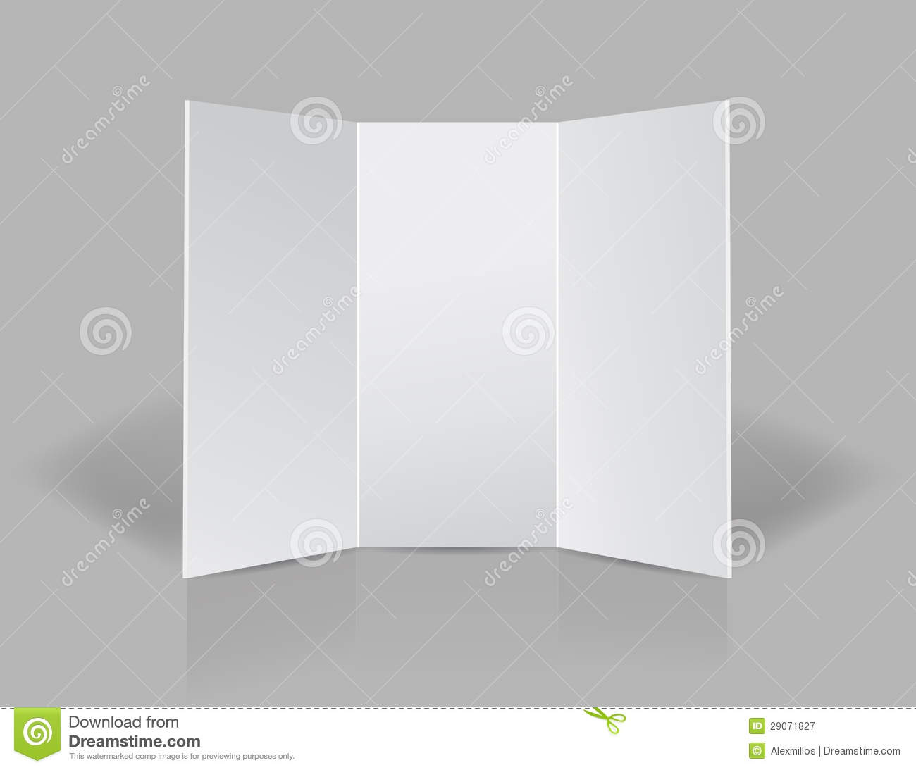 blank tri fold brochure template - tri fold presentation blank leaflet stock illustration