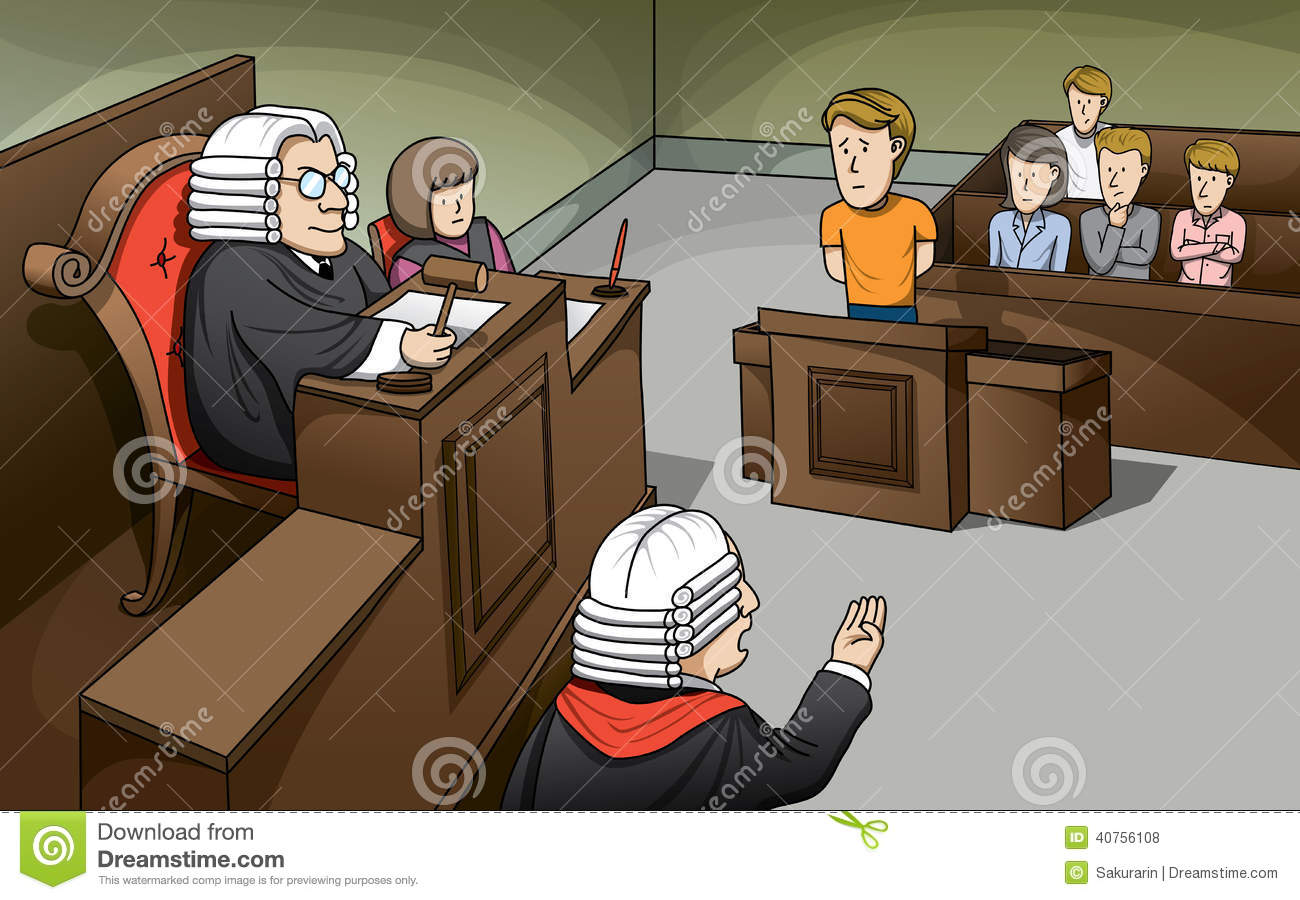 Trial In Court Stock Vector Image 40756108