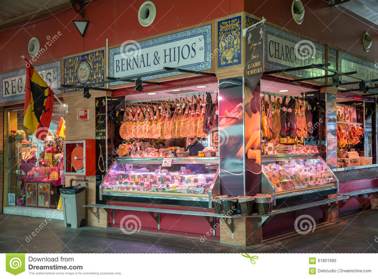 Triana indoor food market in Seville