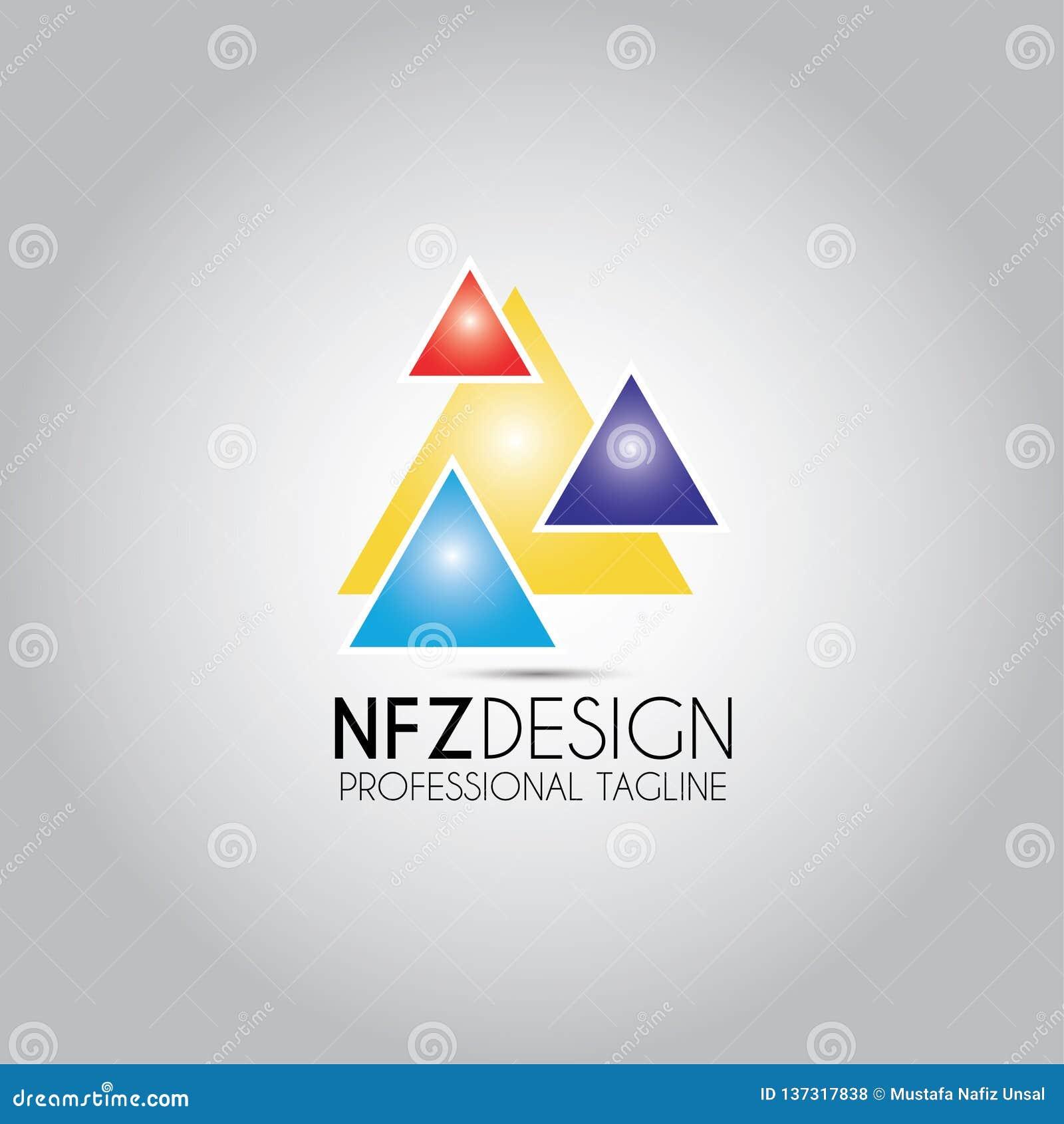 Triangel ha colorato il logo di progettazione