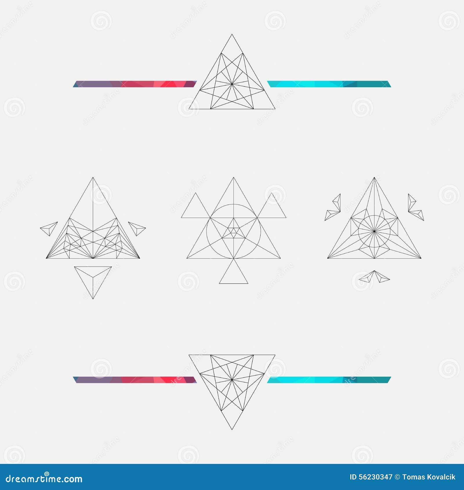 Triangle Background Vector Element Geometric Symbols Stock Vector