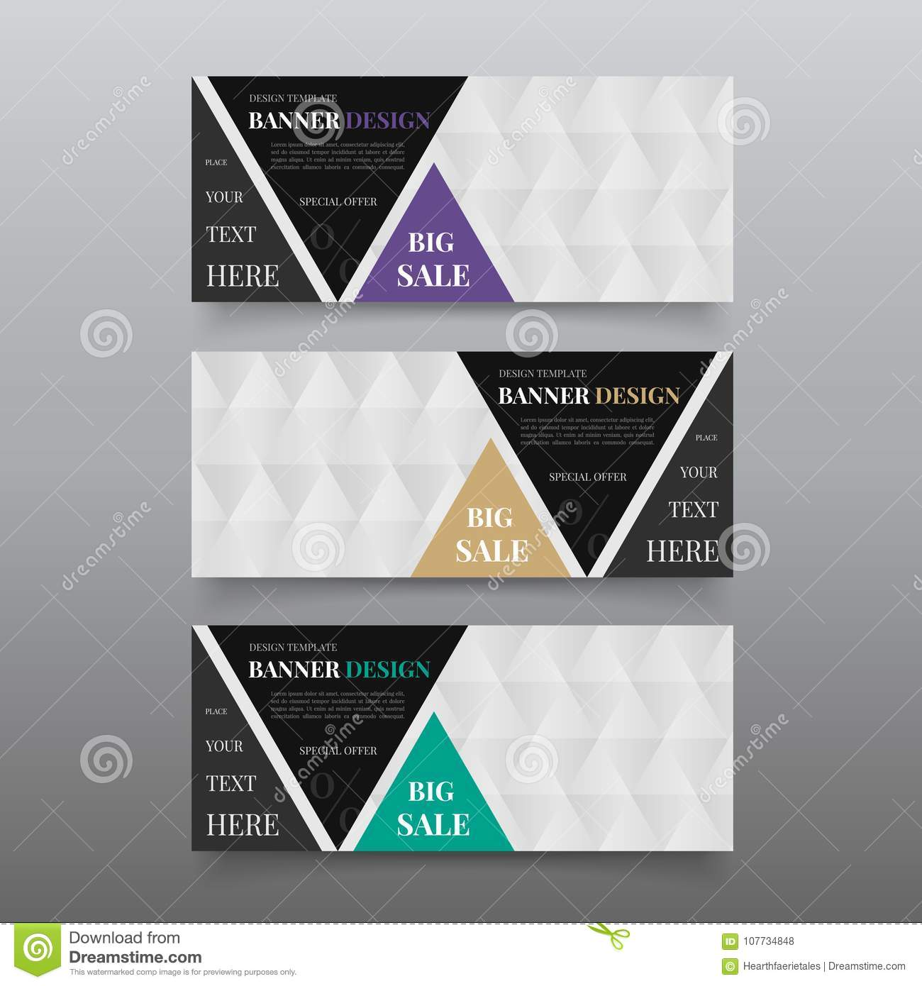 Triangle banner design templates web banner design vector website triangle banner design templates web banner design vector website banner template with text fbccfo