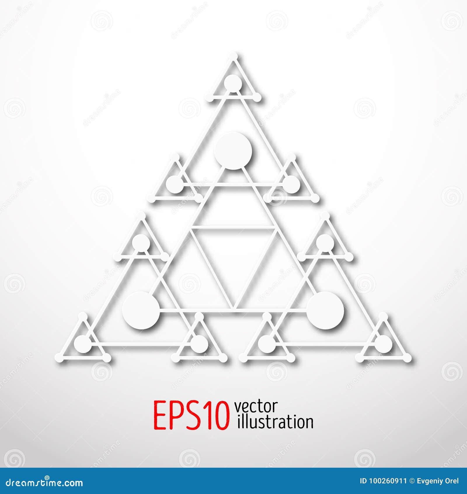Astrologie Scandinave triangle blanche magique avec 3d récursif symbole sacré de la
