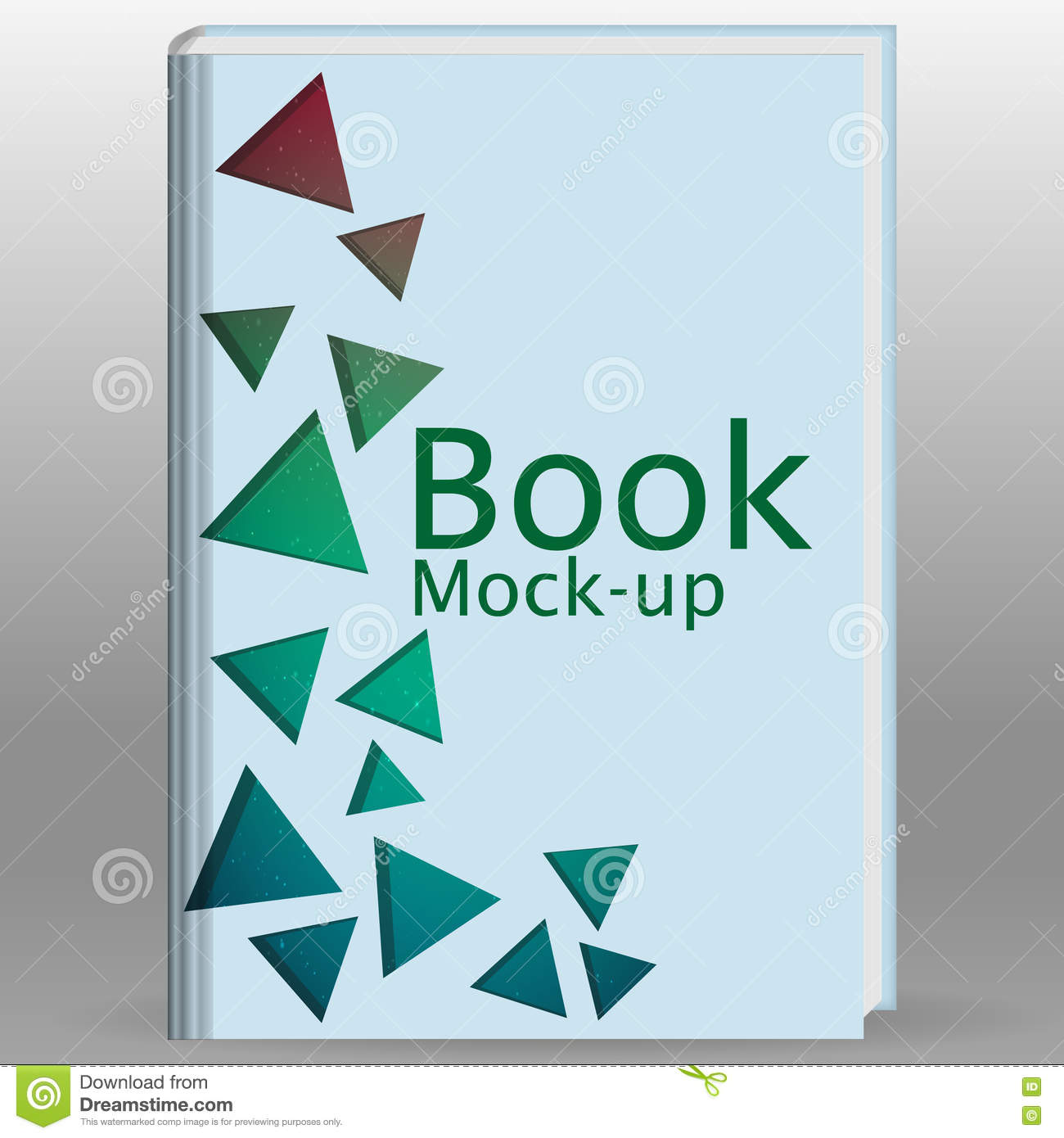 Simple Book Cover Design Template : Simple triangle and circle brochure flyer design layout