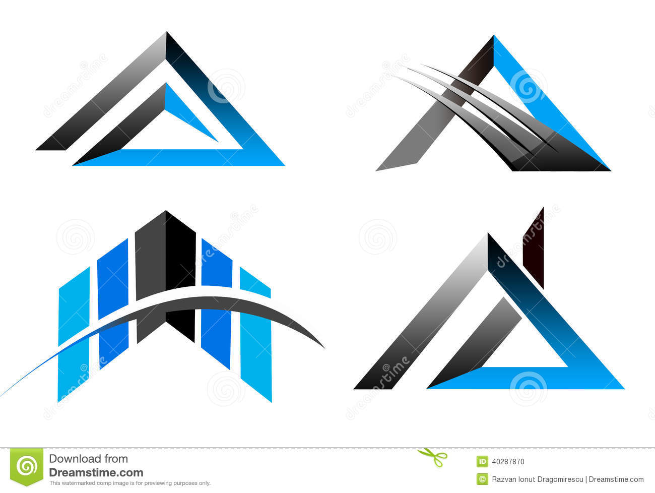 An illustration of a business company logo representing a star and ...