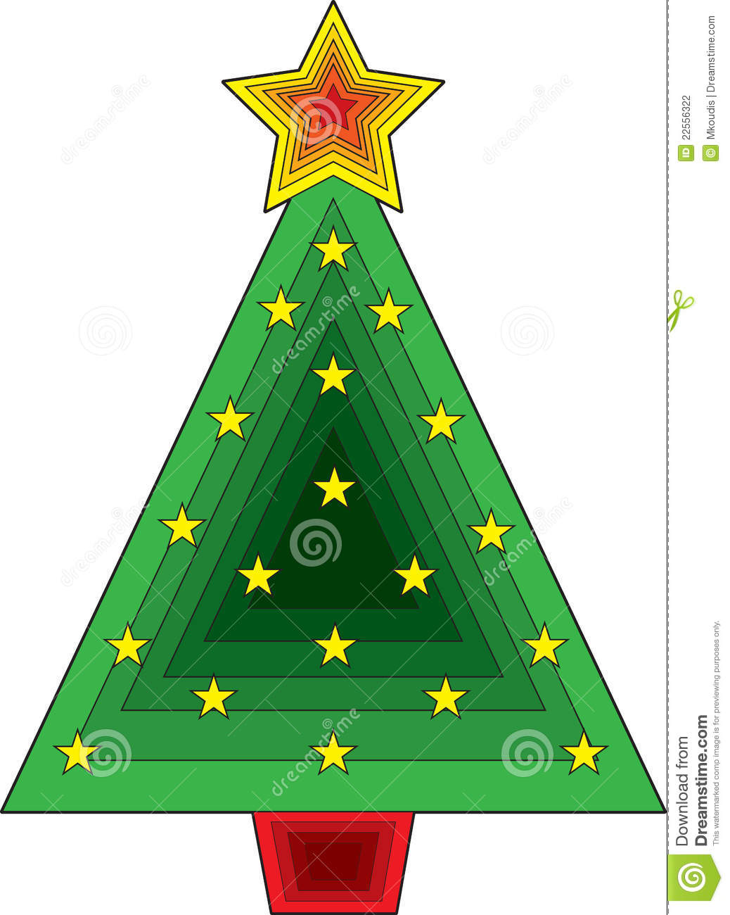 Triangle Christmas Tree Stock Photography - Image: 22556322